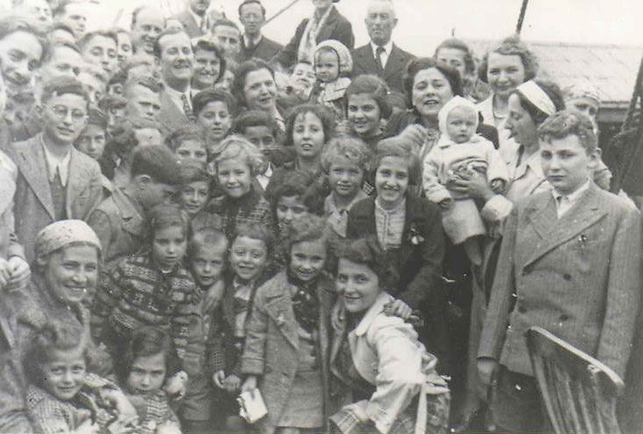 Children are shown on the deck of the MS St. Louis in this undated handout photo. (The Canadian Press files)