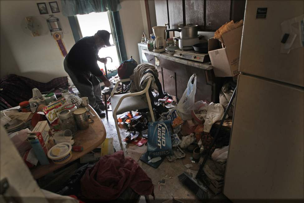 Joe Nemcshuk in his second floor apartment in a rooming house on  Pritchard Avenue in Winnipeg's North End. Wednesday, July 25, 2012    (JOE BRYKSA / WINNIPEG FREE PRESS)