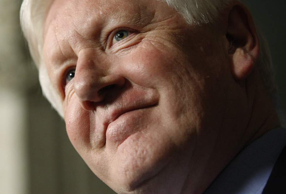 Liberal interim leader Bob Rae speaks to reporters in the Foyer of the House of Commons on Parliament Hill in Ottawa on Wednesday, June 13, 2012. Rae announced that he will not be running for the Liberal leadership.  (Sean Kilpatrick / THE CANADIAN PRESS)