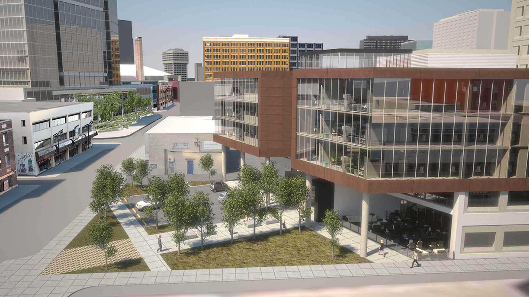 Artist rendering of the new Manitoba Liquor and Lotteries building.
