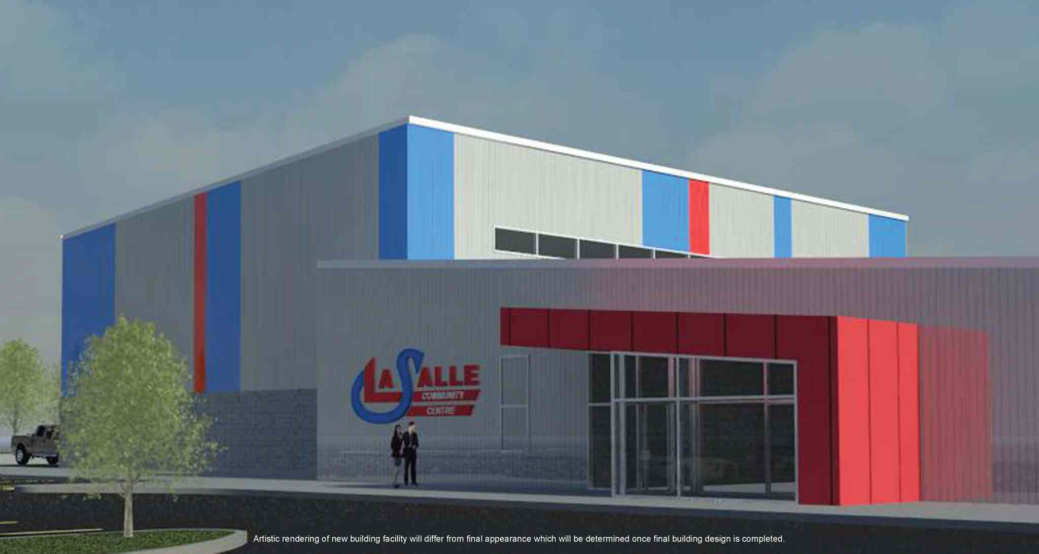 This architect's drawing shows the new La Salle Community Centre, due to open in late January 2014.