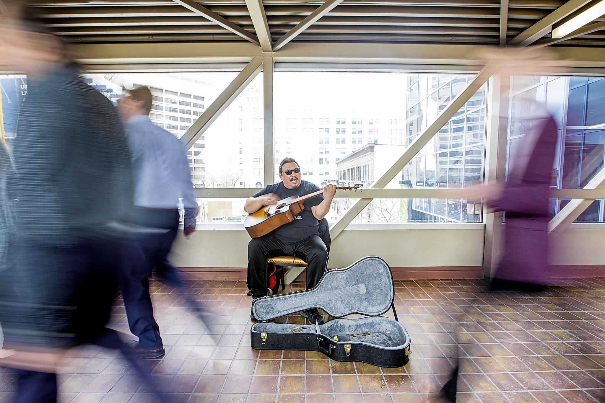Anywhere you can play and get heard by people is positive, Spence says. (Mikaela MacKenzie / Winnipeg Free Press)