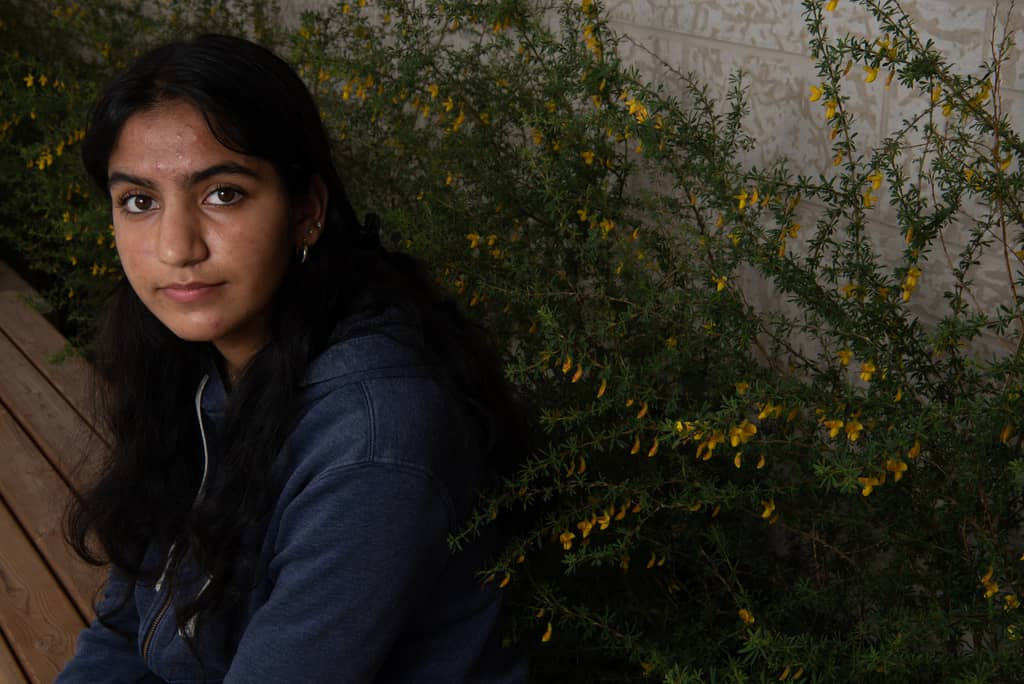 Anantjot Khosa, a grade 11 student at Maples MET School, turned to counselling sessions in the spring to help her through school.    Reporter: Maggie Macintosh