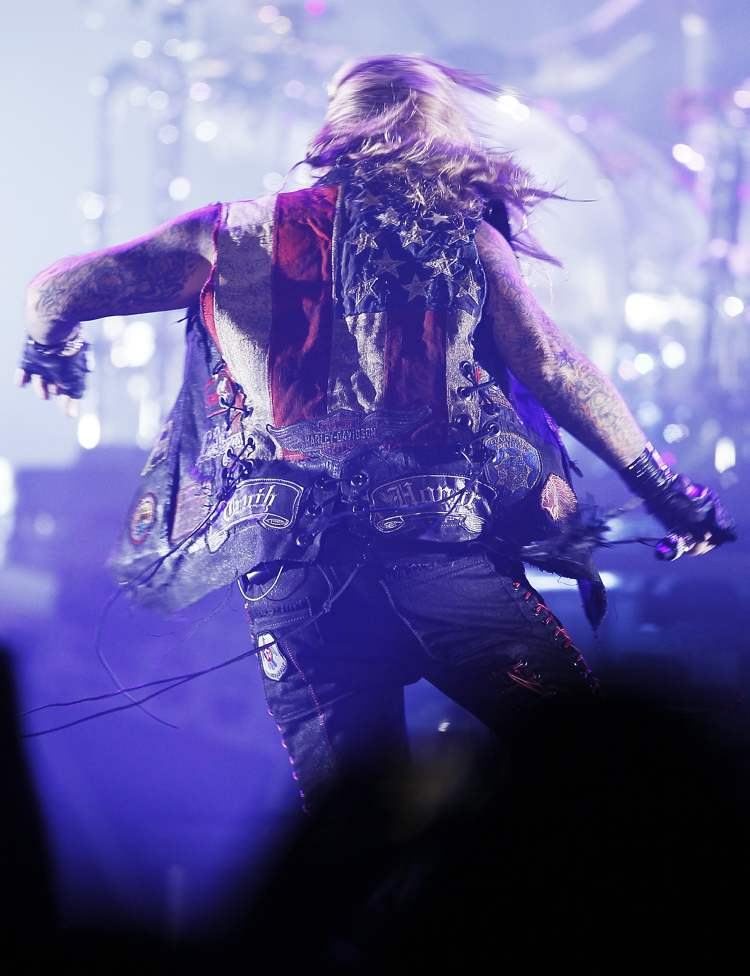 Mötley Crüe performs at the MTS Centre in Winnipeg Tuesday, May 7, 2013.