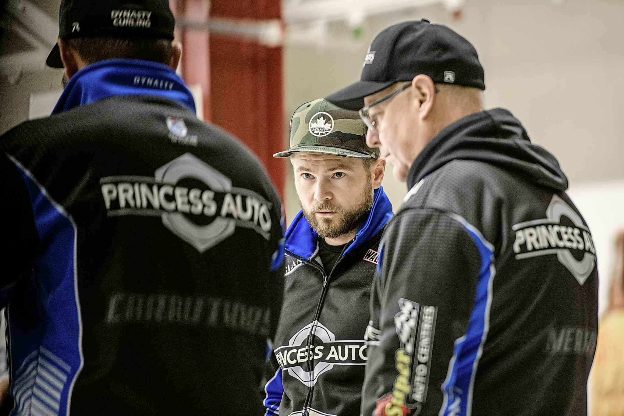 McEwen talks with his team during practice at Granite Curling Club Wednesday afternoon as the team prepares for this weekend's Canad Inns Bonspiel in Portage La Prairie. The rink is fresh off their latest WCT victory in South Korea.