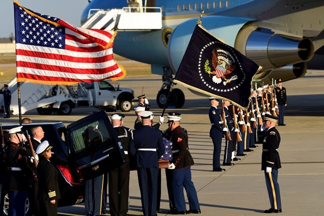 Body of President George H.W. Bush Arriving in Washington D.C.