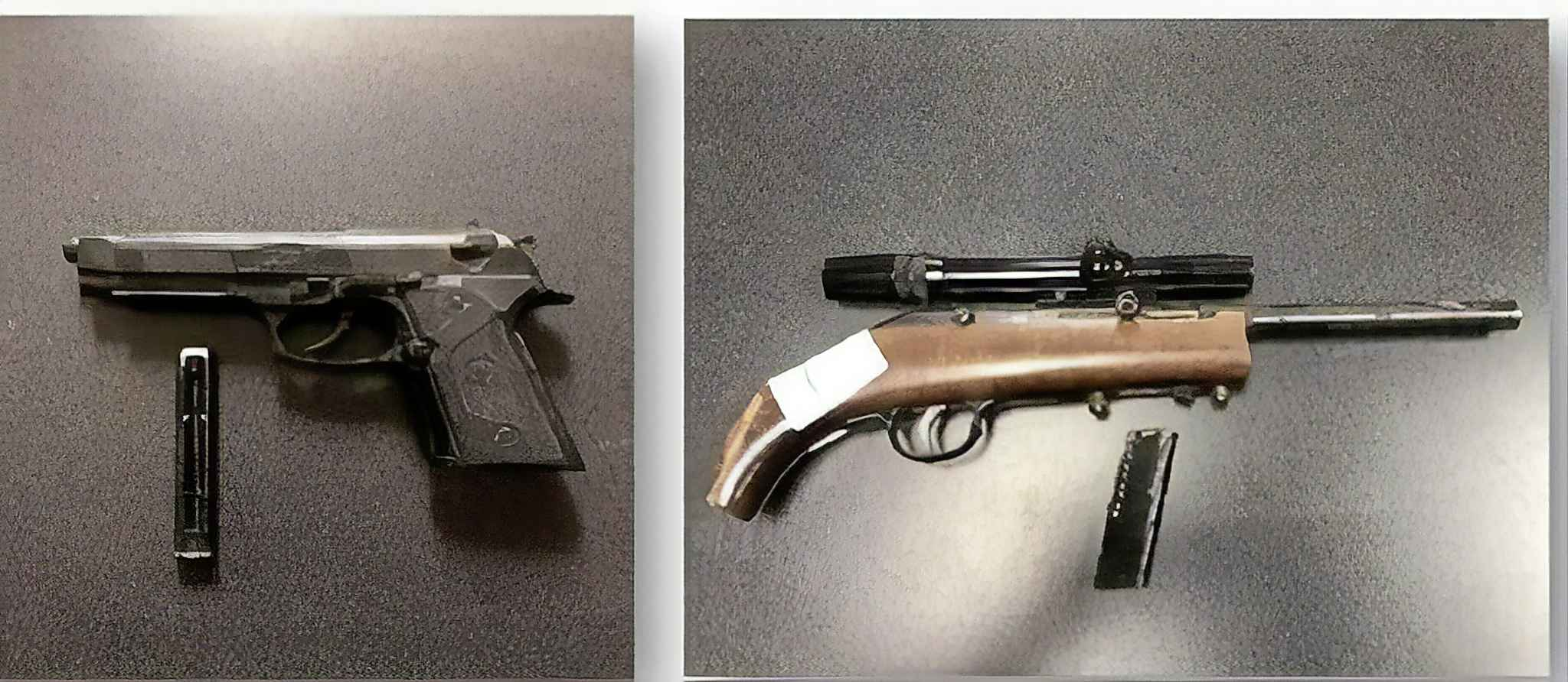 A patrol stop in Sandy Bay First Nation in May resulted in the seizure of a sawed-off shotgun and realistic pellet gun. (Supplied photo)