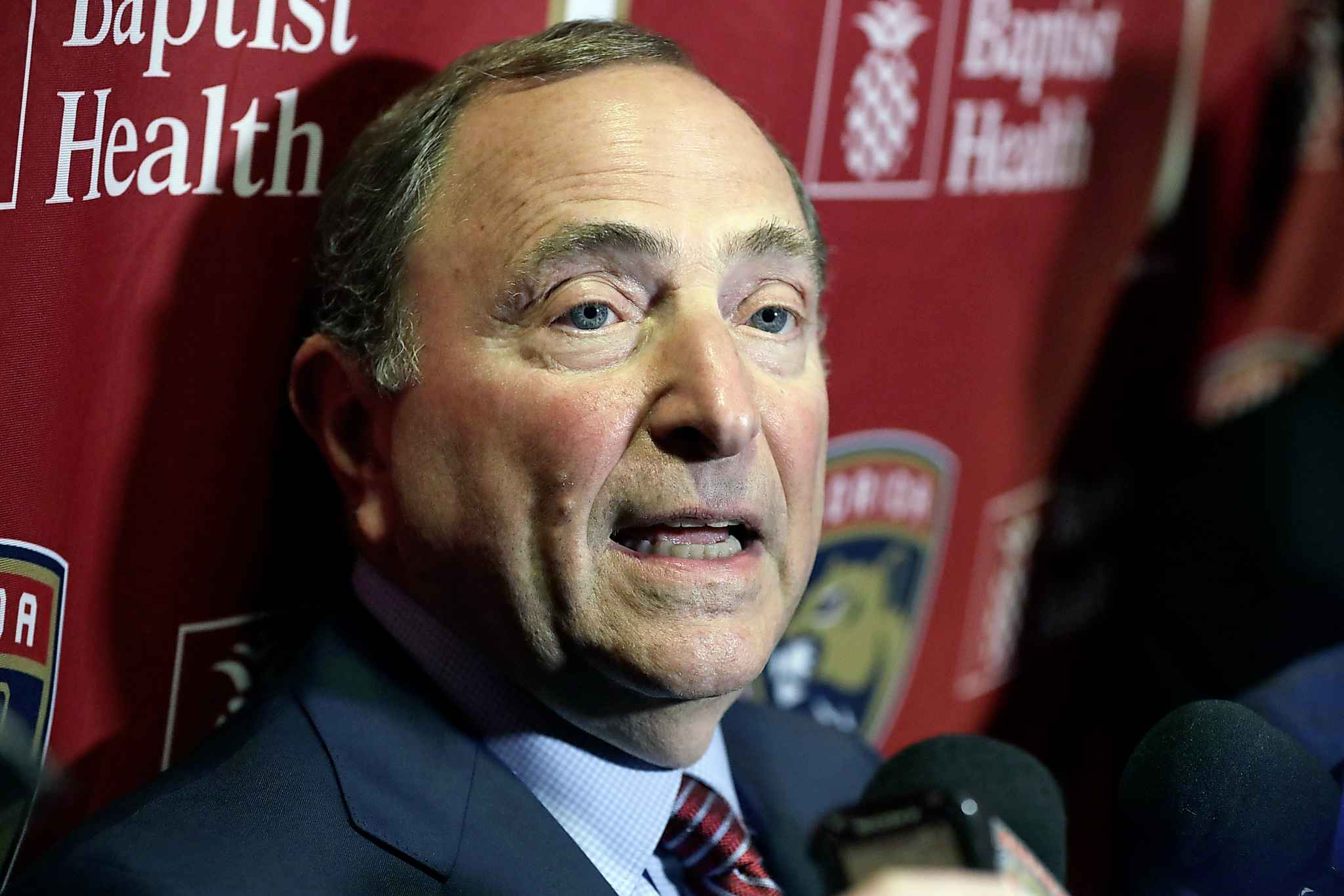"National Hockey League Commissioner Gary Bettman has said he hopes to eventually finish the season ""in some form"" and award a championship."