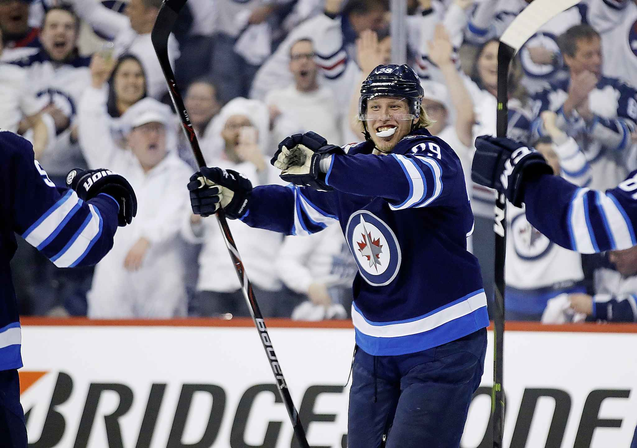 Winnipeg Jets right wing Patrik Laine is one of the few Jets forwards to light the lamp consistently of late.