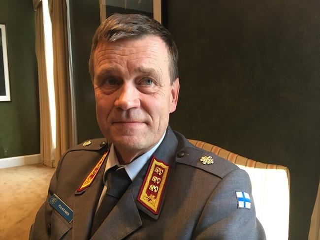 Gen. Esa Pulkkinen, director general of the EU's military staff, poses for a photo in Ottawa on Wednesday, March 20, 2019. As Canada's military mission races to leave Mali amid pleas from the United Nations to stay, the European Union is making a fresh appeal to the Canadian Forces to partner with it in the West African country.THE CANADIAN PRESS/Mike Blanchfield