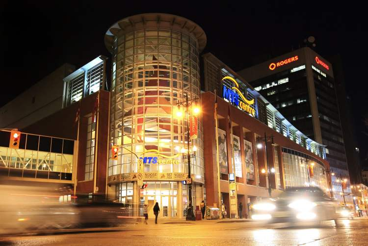 The MTS Centre, home of the Jets.