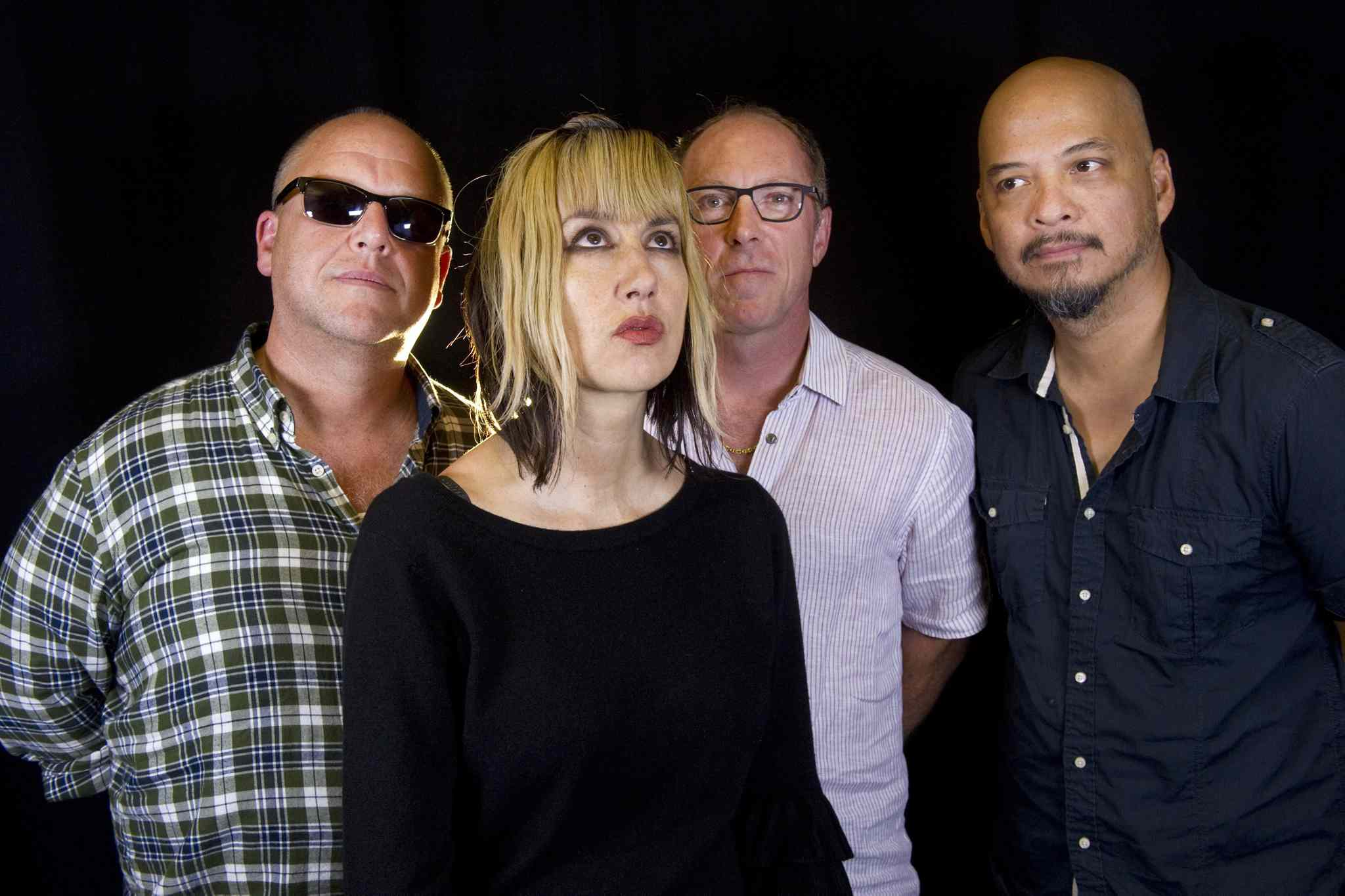 The Pixies, from left: Black Francis, Kim Shattuck, David Lovering and Joey Santiago.
