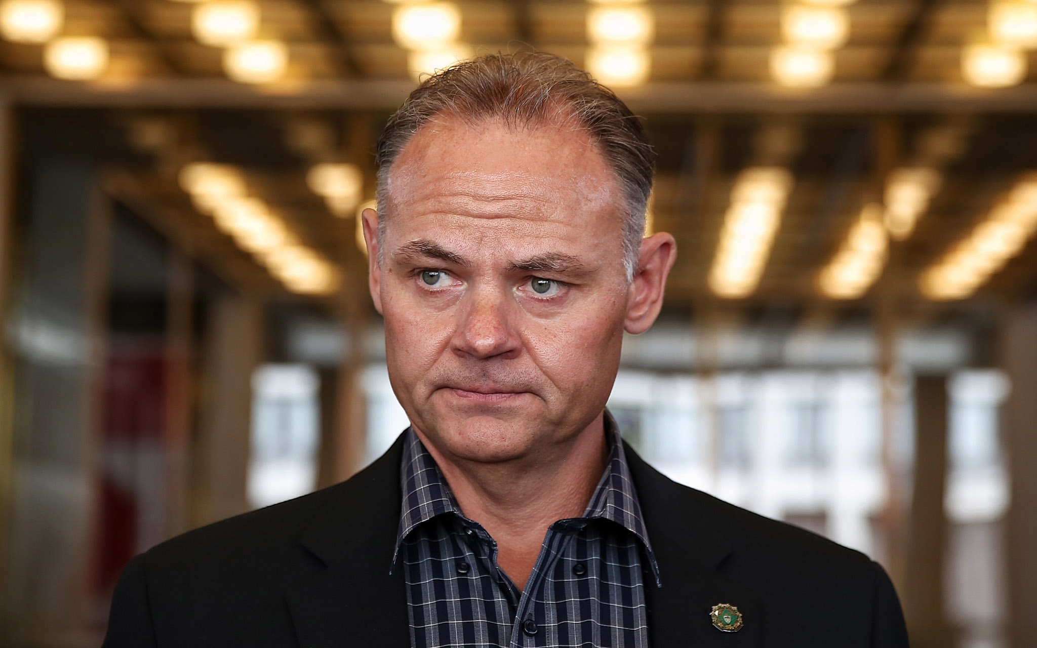 Winnipeg Police Association president Maurice Sabourin said the union will fight the decision with all legal means at its disposal, claiming the City of Winnipeg had no right to alter the pension plan outside of collective bargaining. (Mike Deal / Winnipeg Free Press)