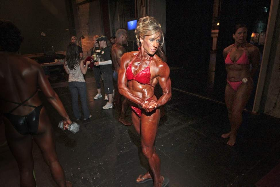 Lorraine Handley competes in the MABBA Body Building Provincials at the Pantages Playhouse. June 04, 2011