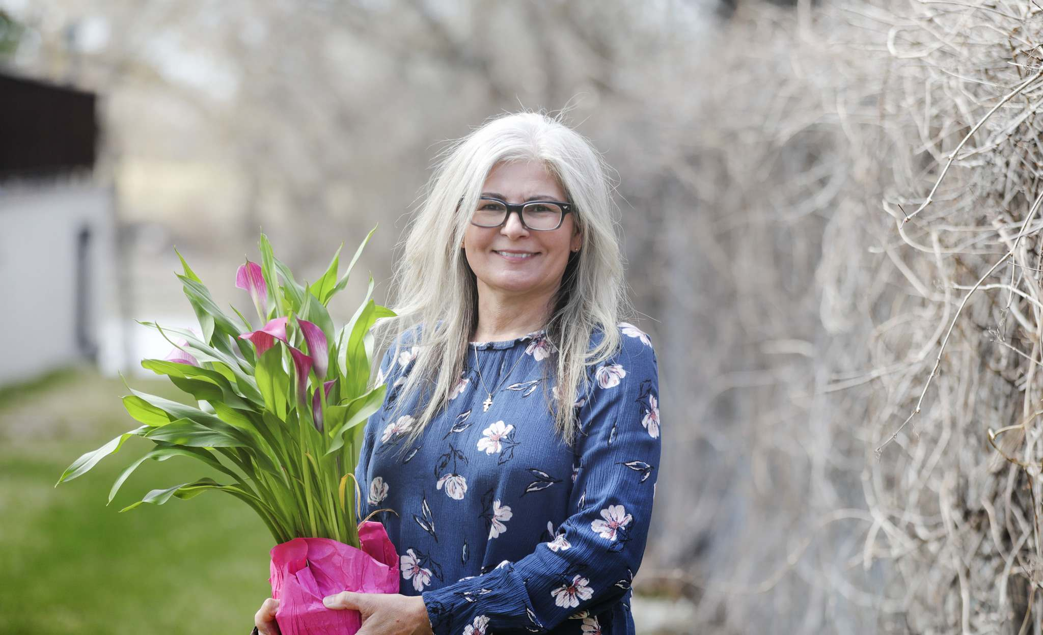 Nadine Orchard takes care of her elderly mother; she'll take flowers to the personal care home for Mother's Day.</p>