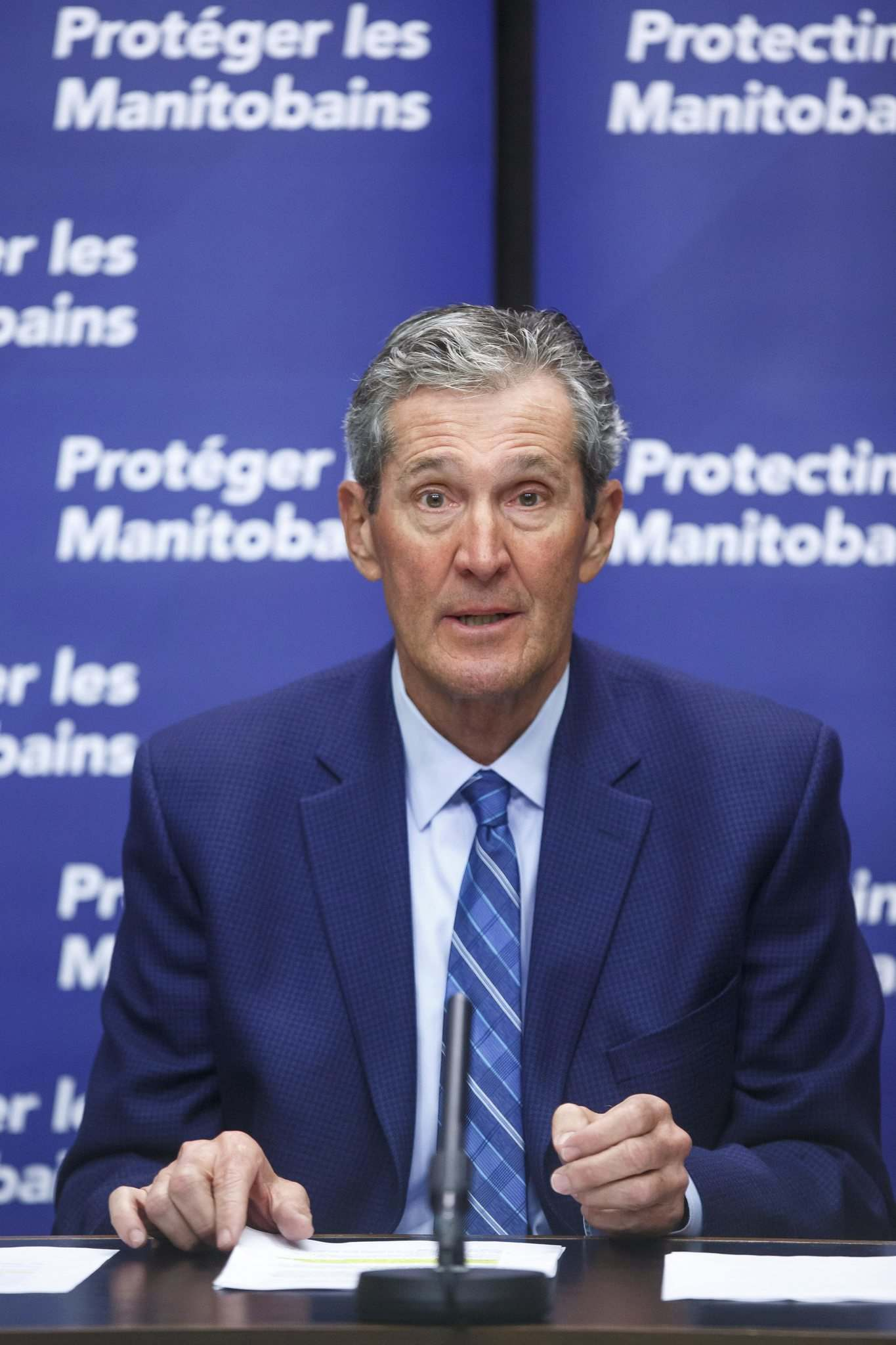 """""""We've got some tough weeks ahead of us,"""" Premier Brian Pallister said at a news conference Friday."""