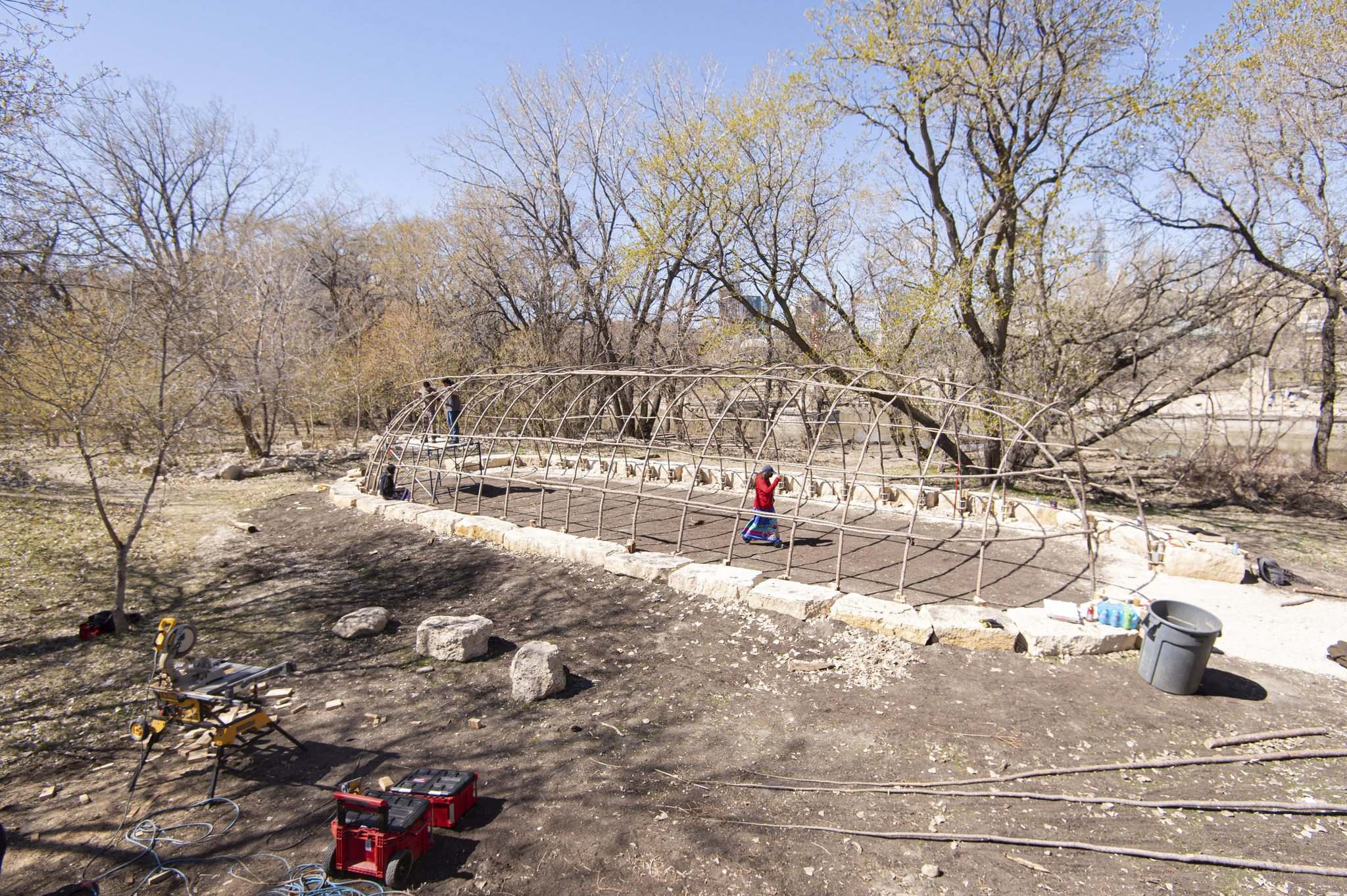 This week, for the first time in over two centuries, a lodge is being built at Nestowaya (formerly named South Point of The Forks).