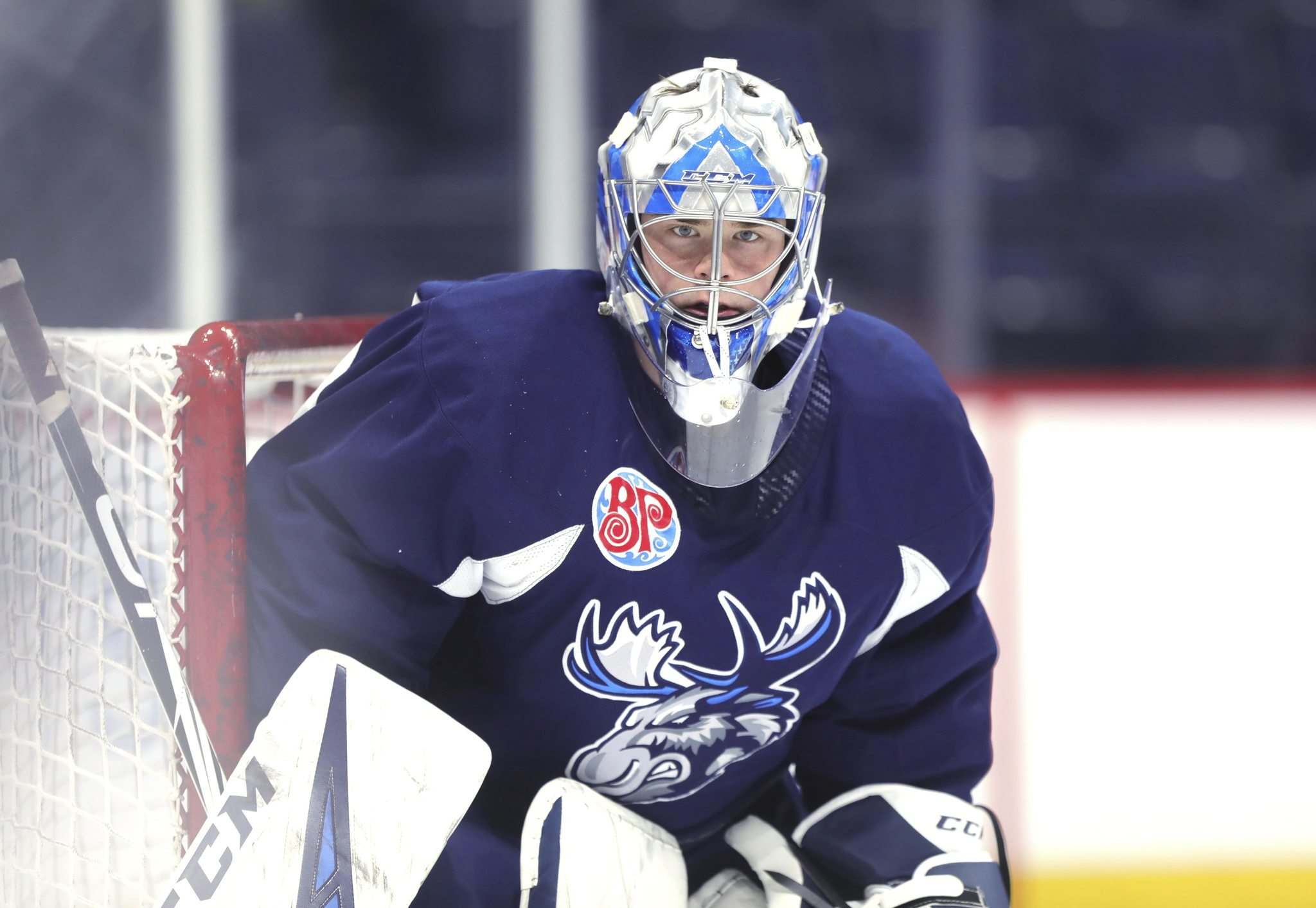 <p>Winnipeg Jets goalie Eric Comrie is the team's nominee for the 2021 Bill Masterton trophy.