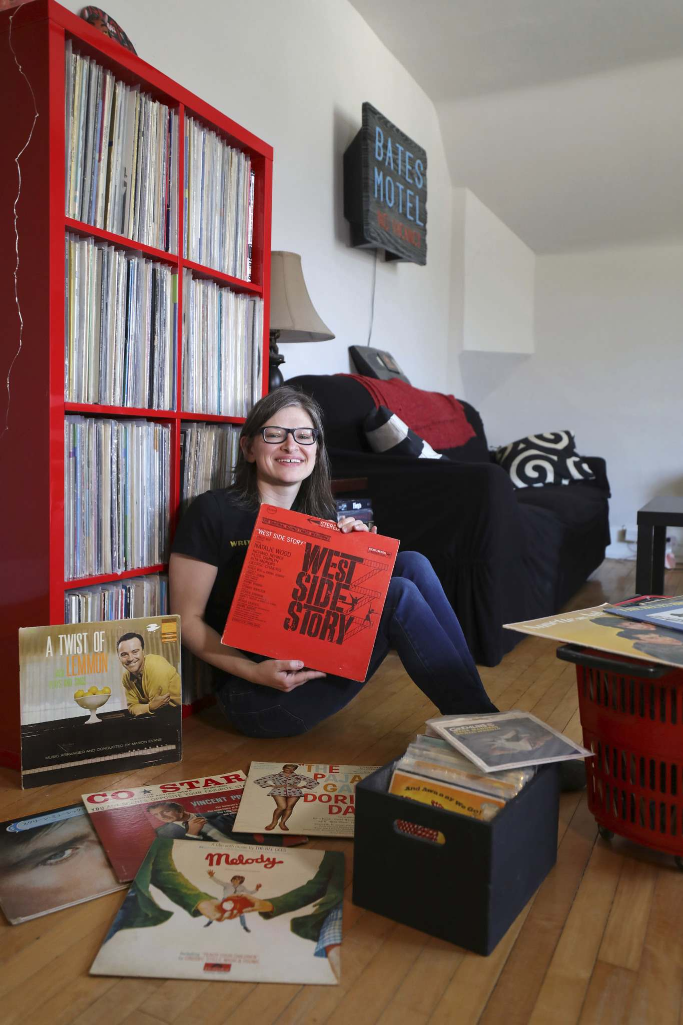 RUTH BONNEVILLE / WINNIPEG FREE PRESS</p><p>Amanda Stefaniuk, host of the weekly Mondo Hollywood radio show, has been collecting movie soundtracks since she was 12. West Side Story was the first soundtrack she ever bought.</p>