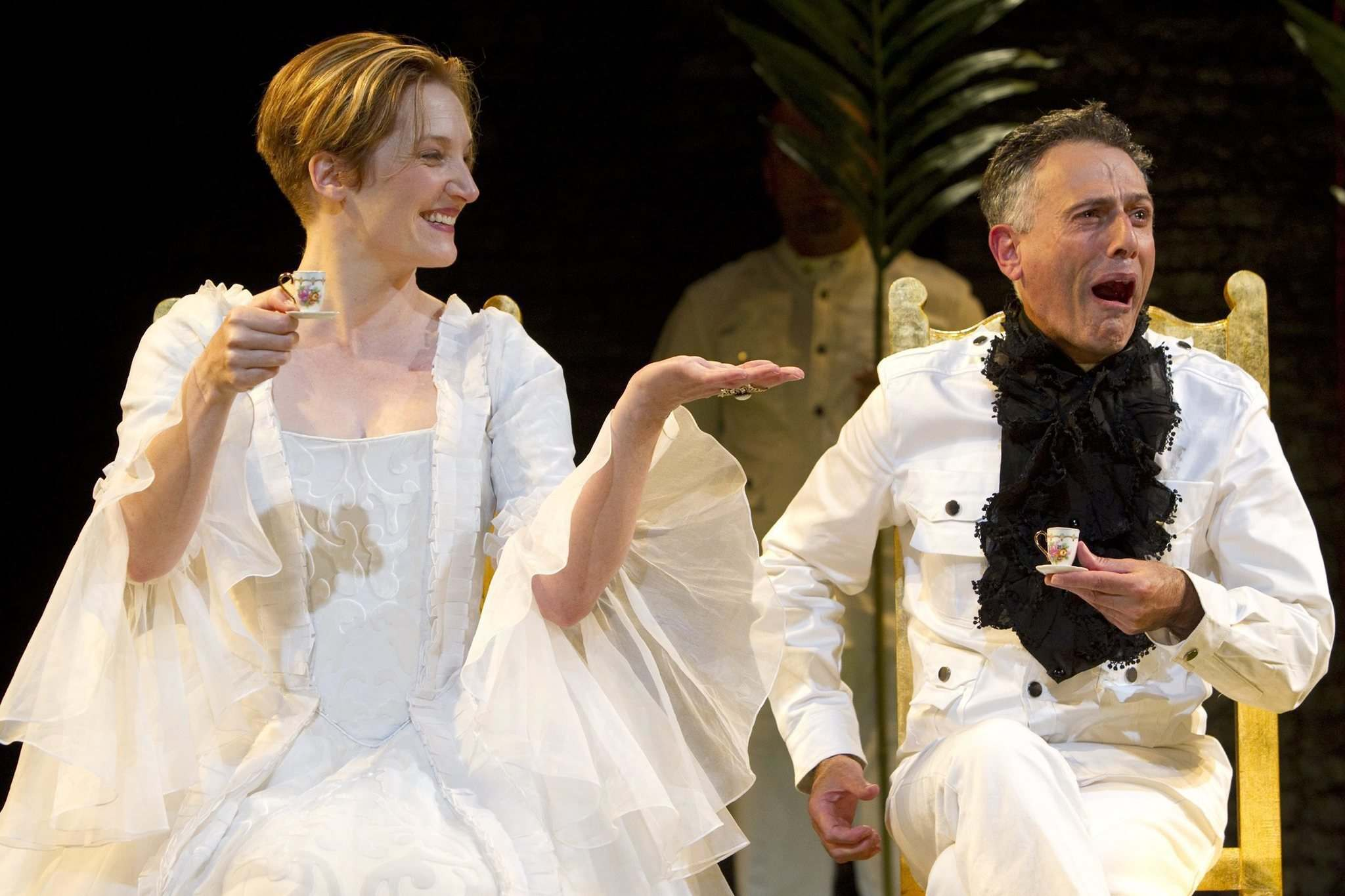 Francesca Faridany, left, and David Greenspan in an off-Broadway production of Sarah Ruhl's adaptation of Orlando, which comes to RMTC mainstage in November.</p>