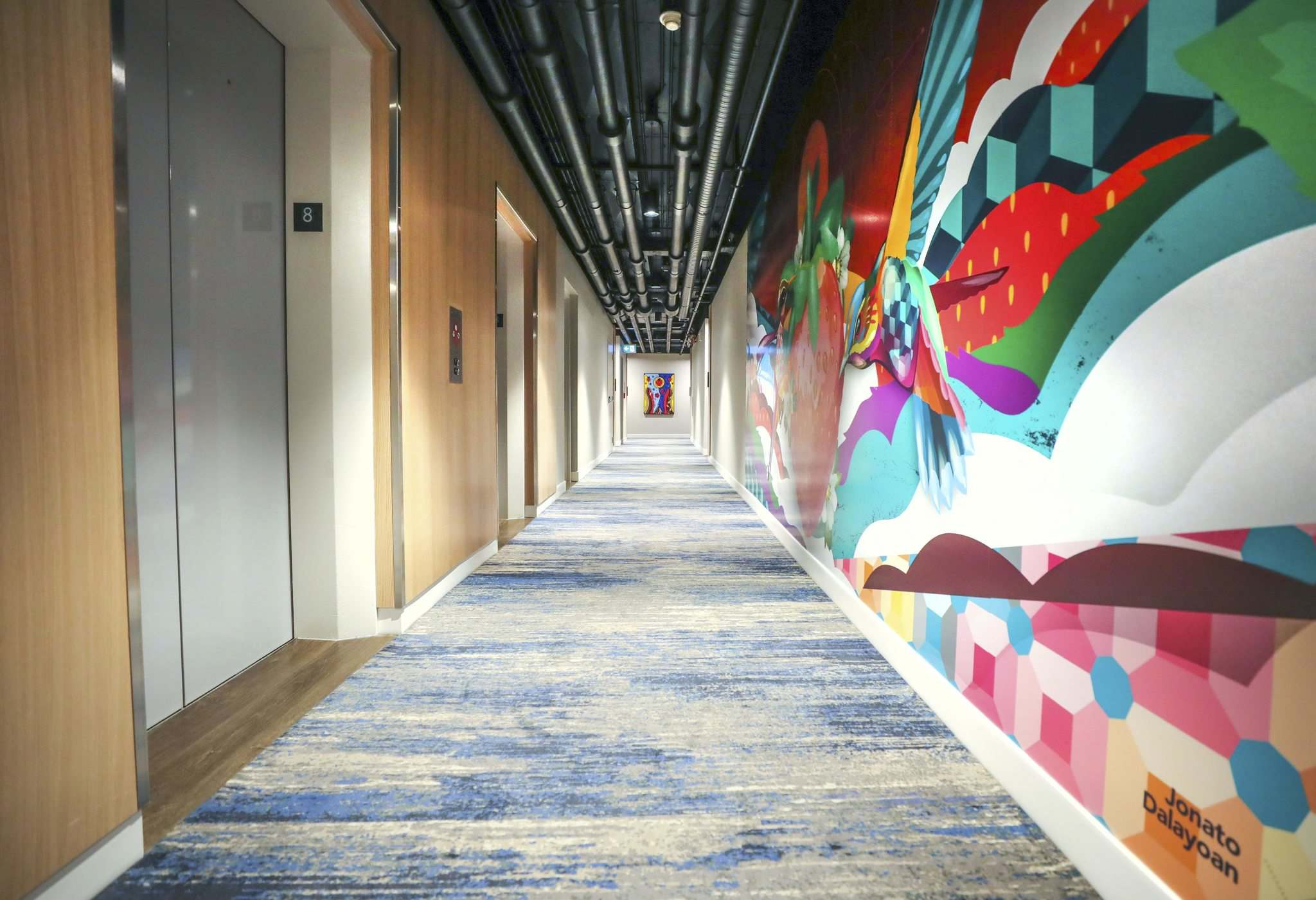 RUTH BONNEVILLE / WINNIPEG FREE PRESS</p><p>The hallways are decorated with custom artwork representing the 13 moons of the Ojibwe lunar calendar.</p>