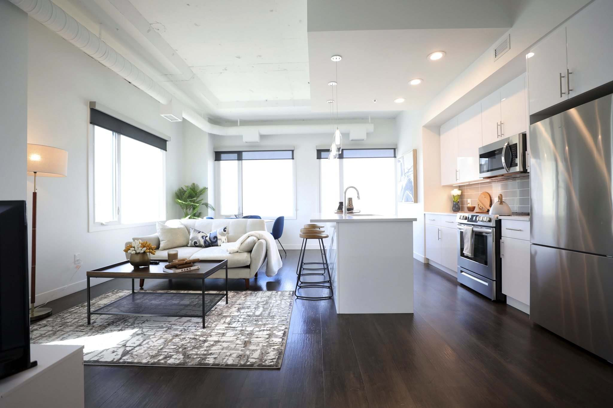 RUTH BONNEVILLE / WINNIPEG FREE PRESS</p><p>One-bedroom units in the Arts Residences will start at $1,530 per month and two-bed suites (pictured) will rent for as much as $2,050.</p>