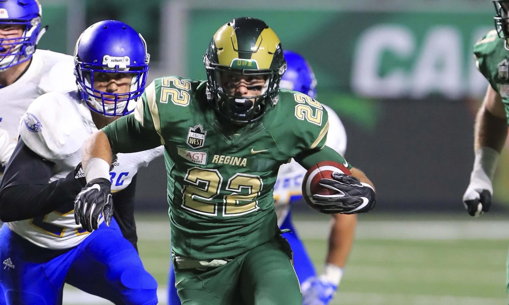 """PIPER SPORTS PHOTOGRAPHY</p> <p>Jumping back to 2018, Borsa started the season as Regina's backup running back but ended up making three starts as the sophomore who was their starter went down with a concussion in Week 1.</p> <p>""""> </a><figcaption readability="""