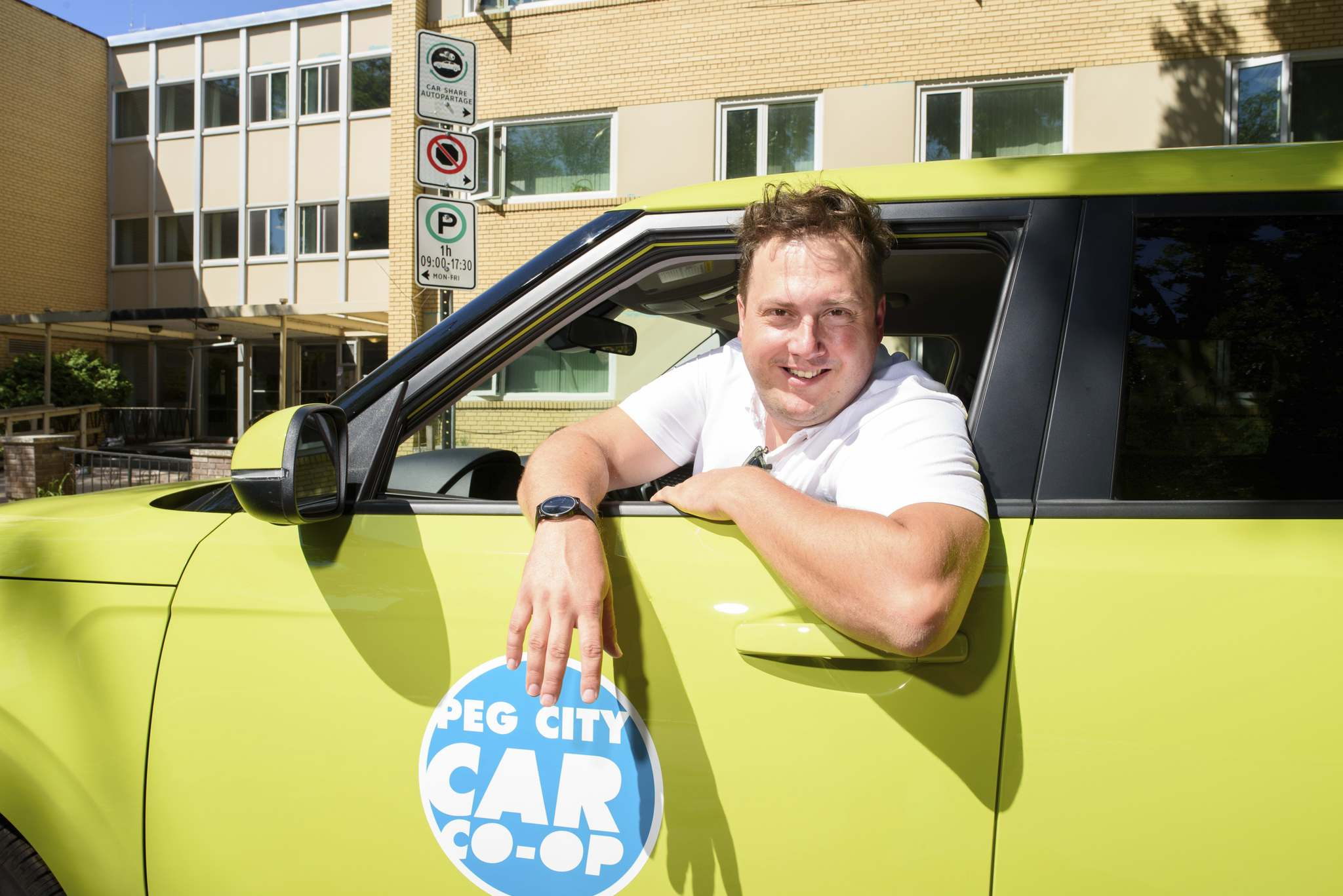Philip Mikulec, Peg City Car Co-op's managing director. There are now 60 Peg City vehicles on the streets of Winnipeg.