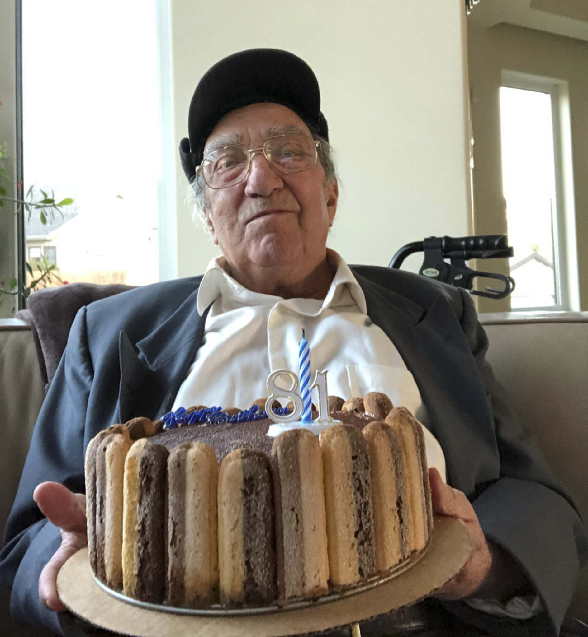 Angelo Manfredi and his torta</p></p>