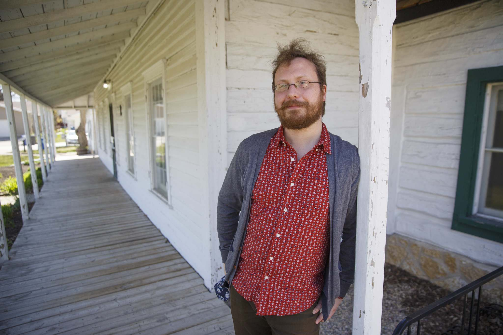 Eric Napier Strong, curator and manager of Seven Oaks House Museum, says the history of Winnipeg and Manitoba is 'all right here in this place.' (Mike Deal / Winnipeg Free Press)</p>