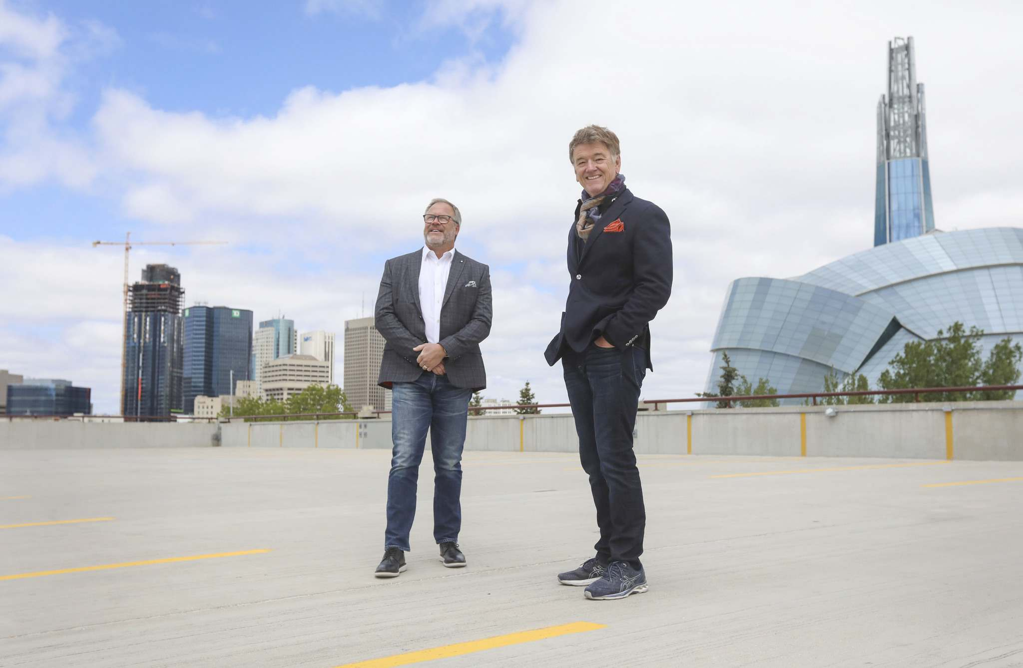 RUTH BONNEVILLE / WINNIPEG FREE PRESS</p><p>Sherpa Marketing president Marty Fisher (left) and Peter George, president and CEO of McKim Communications, are merging their advertising companies.</p>