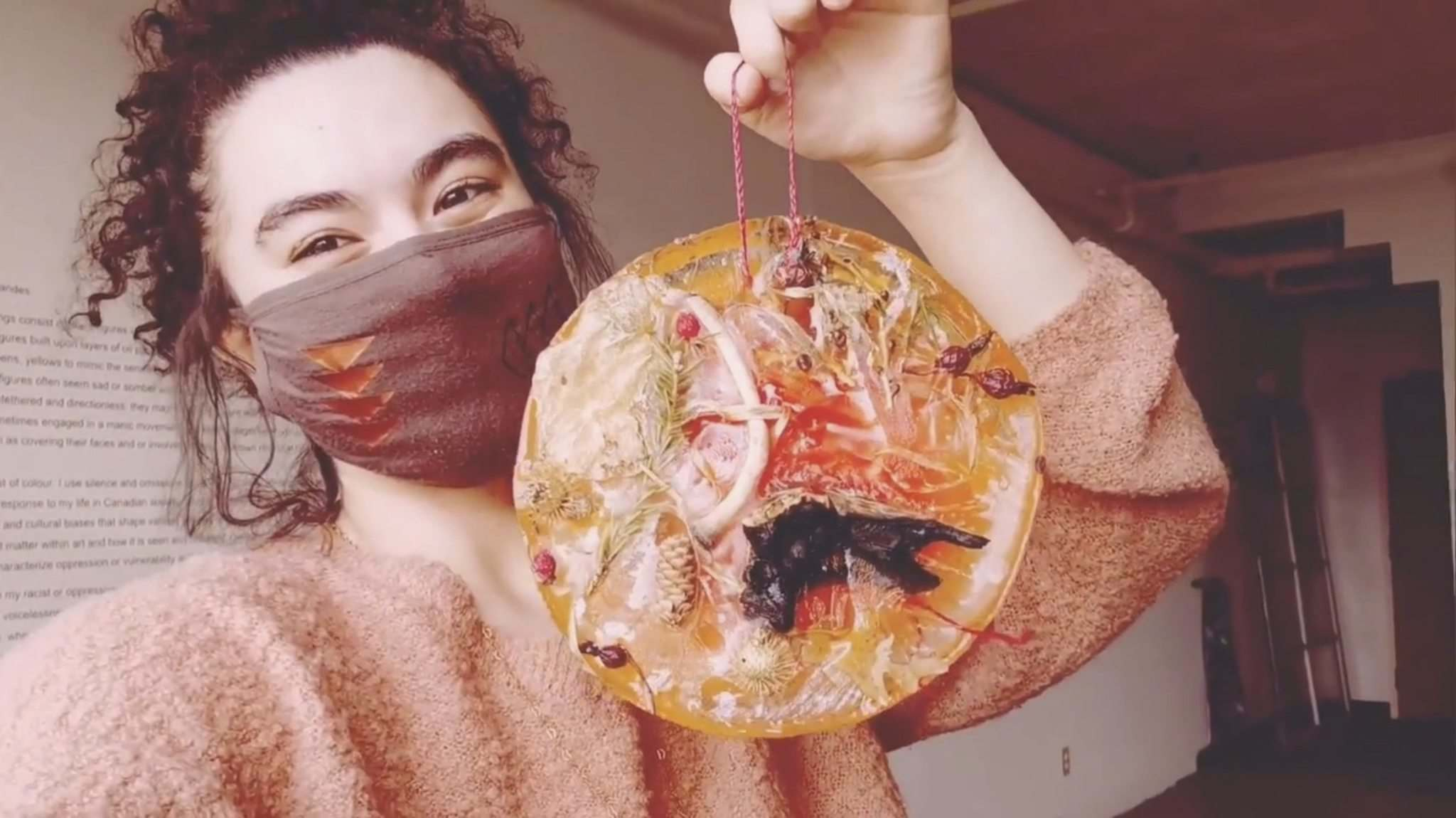 INSTAGRAM</p><p>Annie Beach with one of her suncatchers: the artist will talk about the pandemic's affect on the art community tonight.</p>
