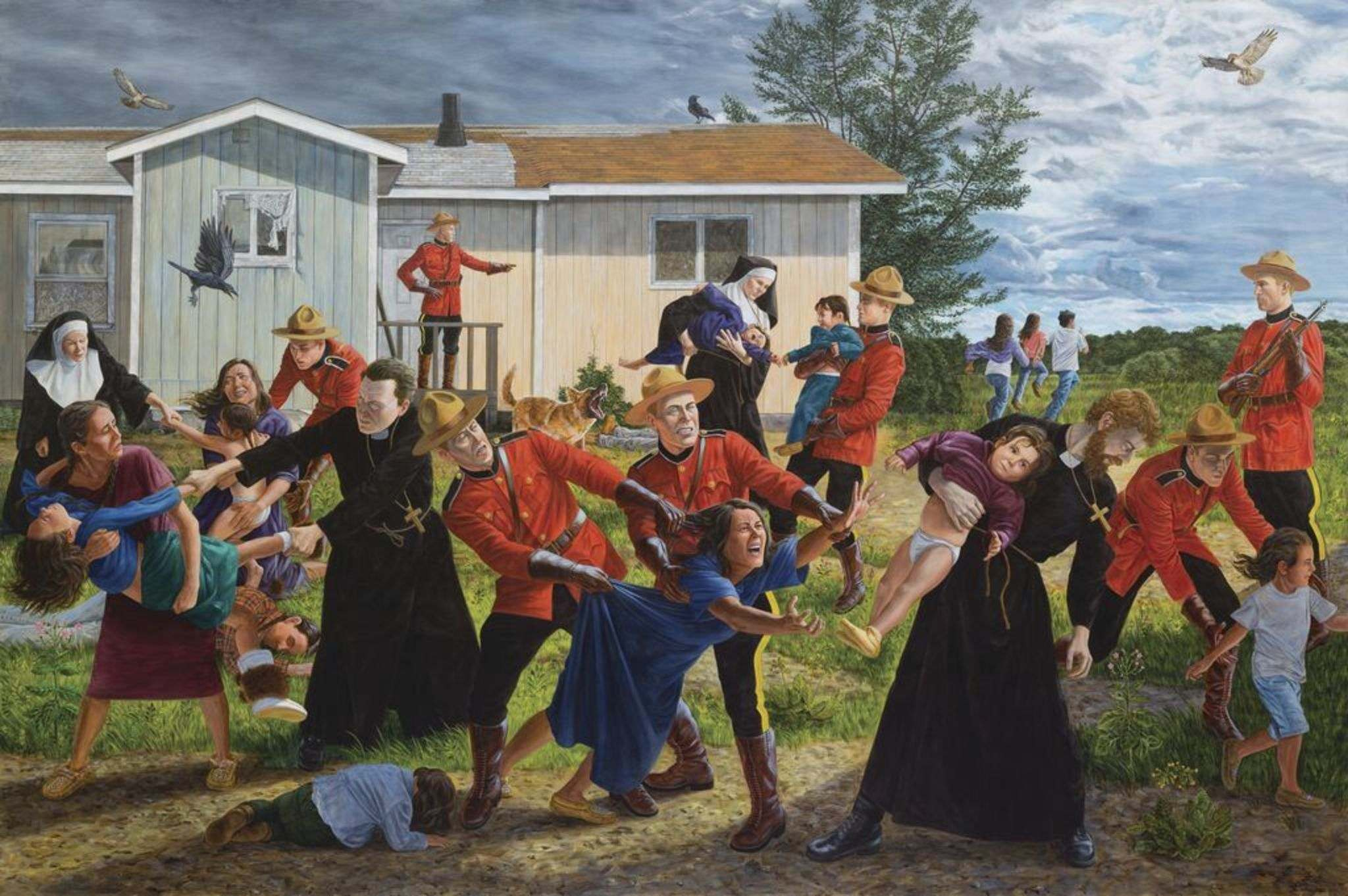 </p><p>Kent Monkman's The Scream. The Cree artist says it's the one piece from the exhibit Shame and Prejudice: A story of Resilience that is too painful to talk about.</p></p>