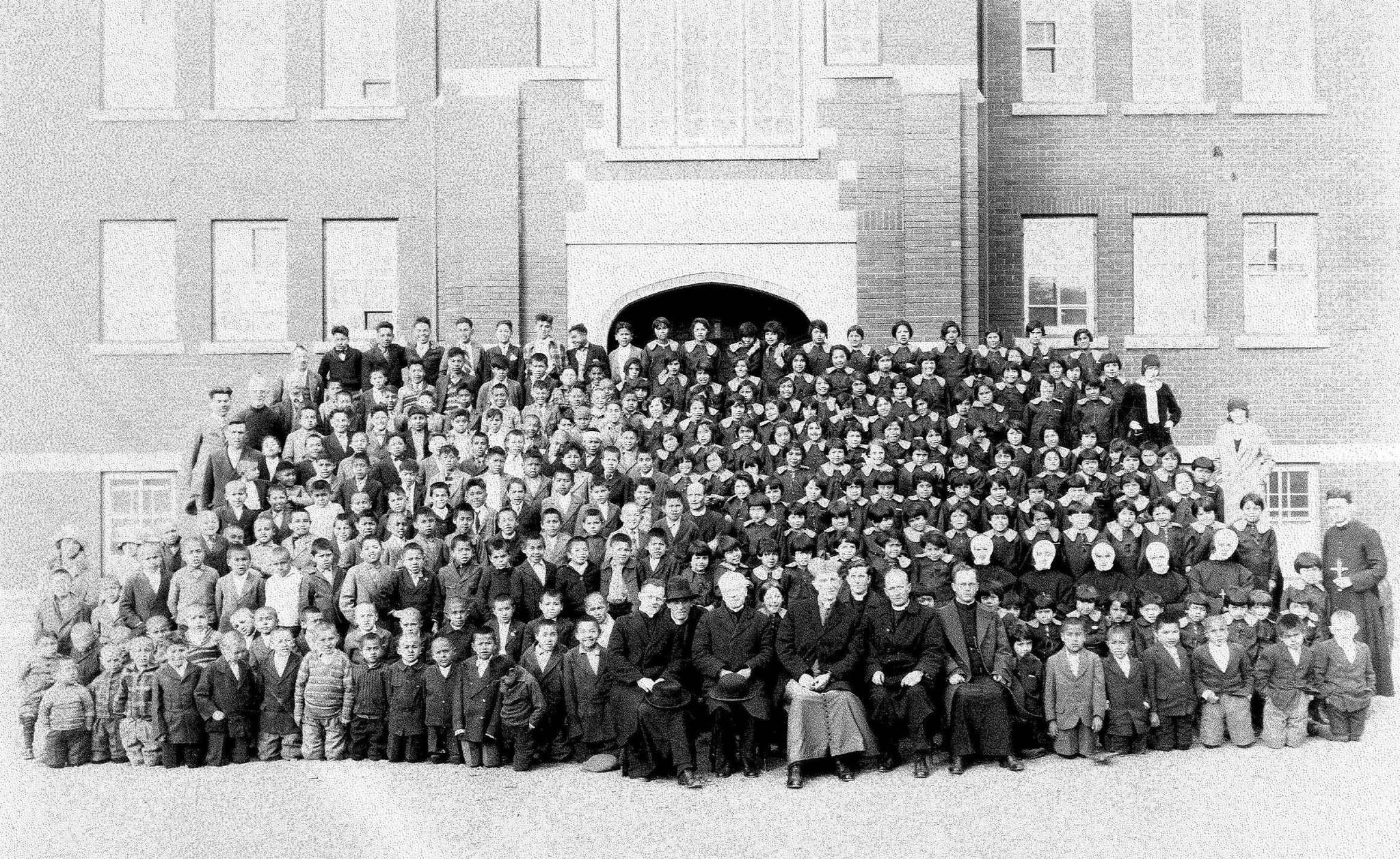 Roman Catholic Archdiocese of Vancouver Archives</p><p>Kamloops Indian Residential School 1935</p>