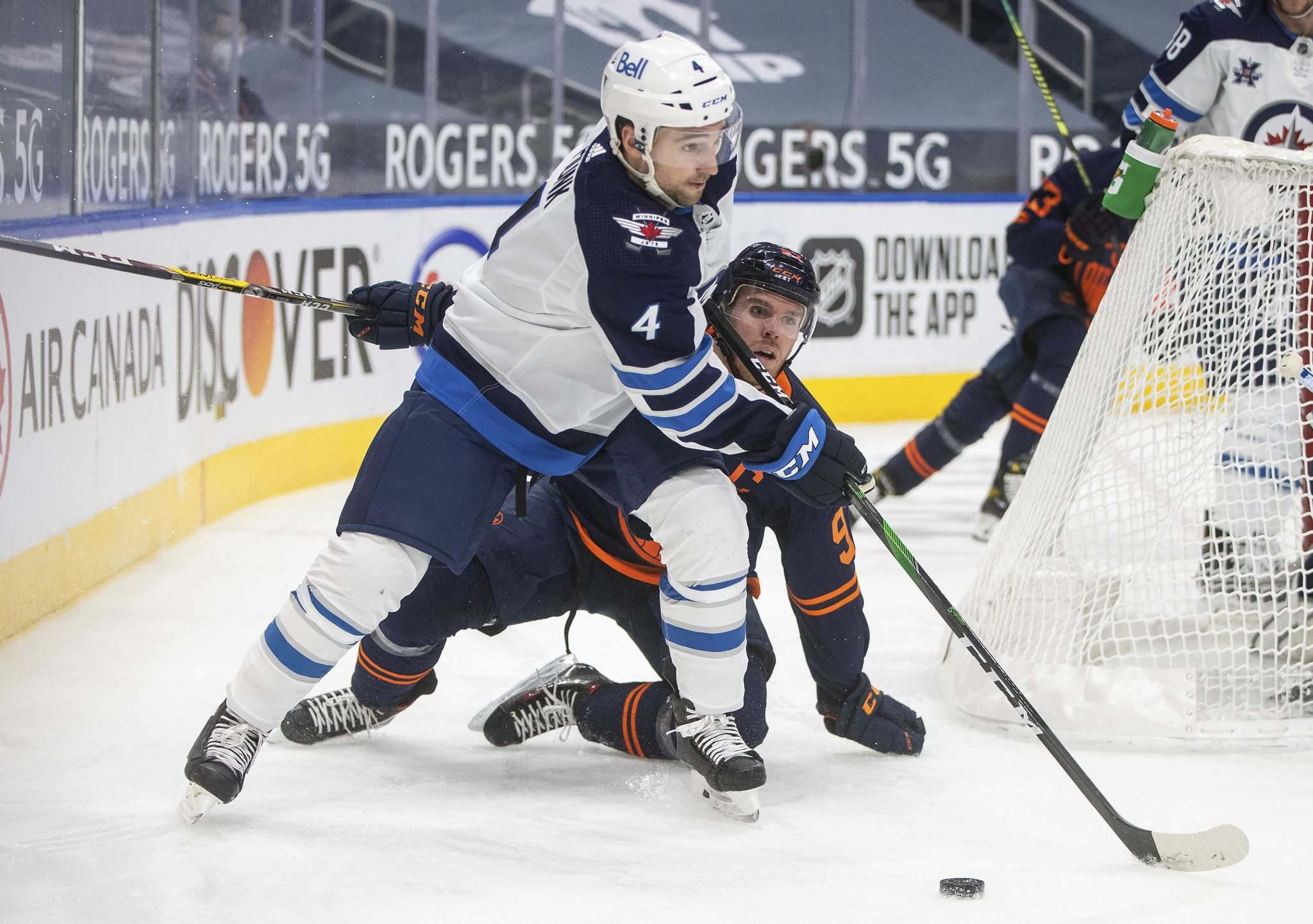 Defenceman Neal Pionk has been sensational on the Jets' blue-line since he was acquired in the trade that sent Jacob Trouba to the New York Rangers. (Jason Franson / The Canadian Press files)</p>