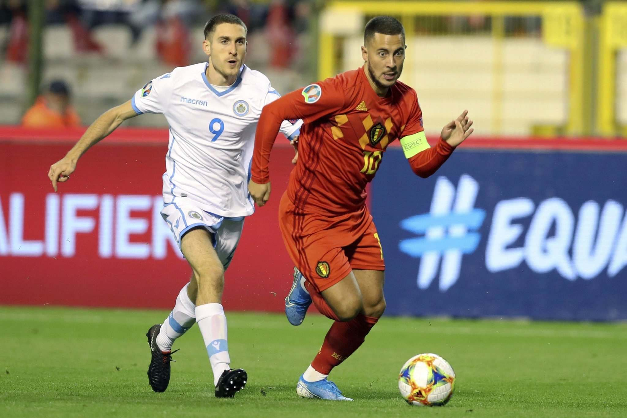 Francisco Seco / The Associated Press files</p><p>A healthy Eden Hazard (right) would go a long way to seeing Belgium go deep in the championship. </p>