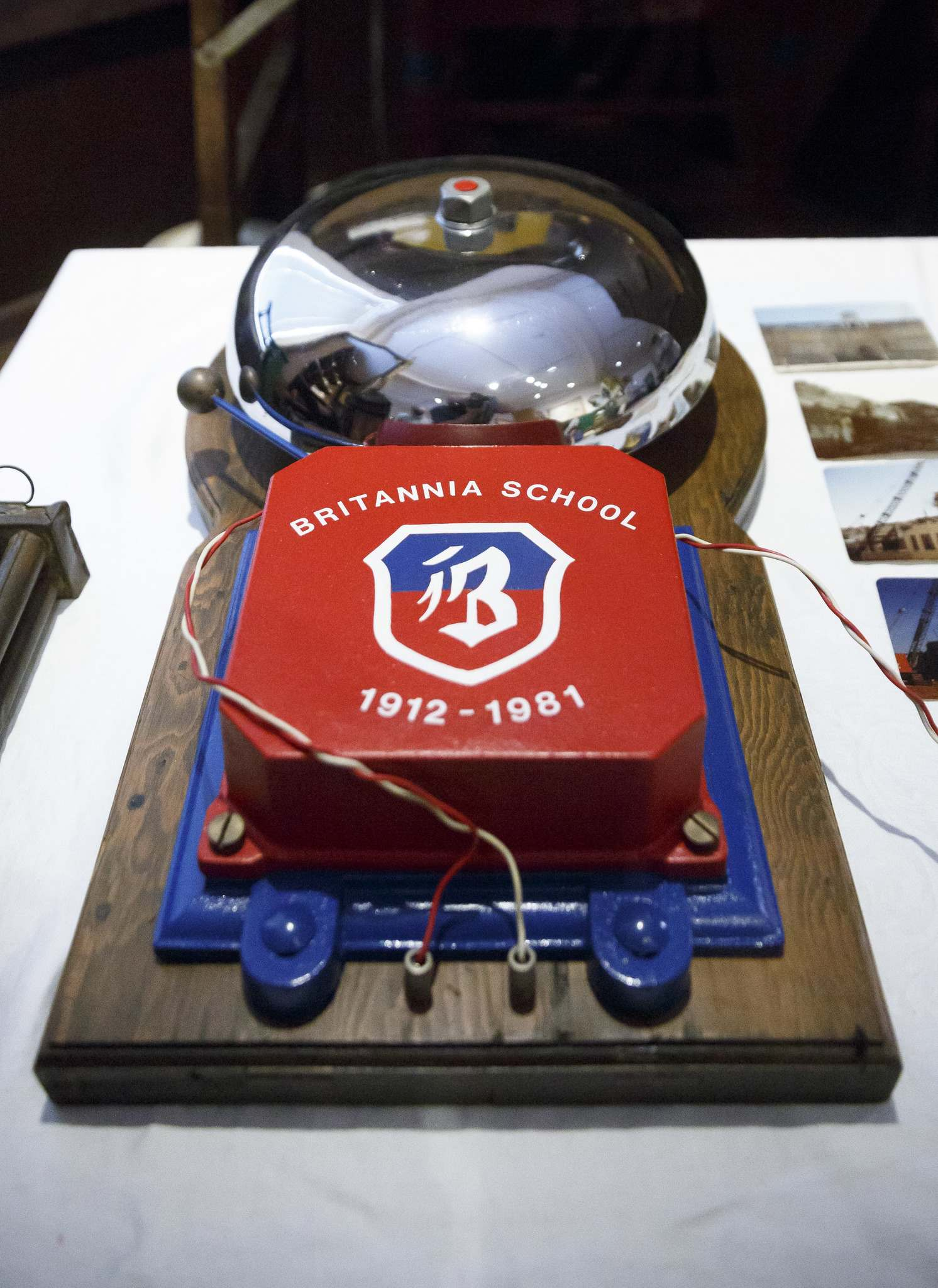 A bell from the Britannia School, which was one of the only things recovered after a fire destroyed the school in 1981. (Mike Deal / Winnipeg Free Press)</p>