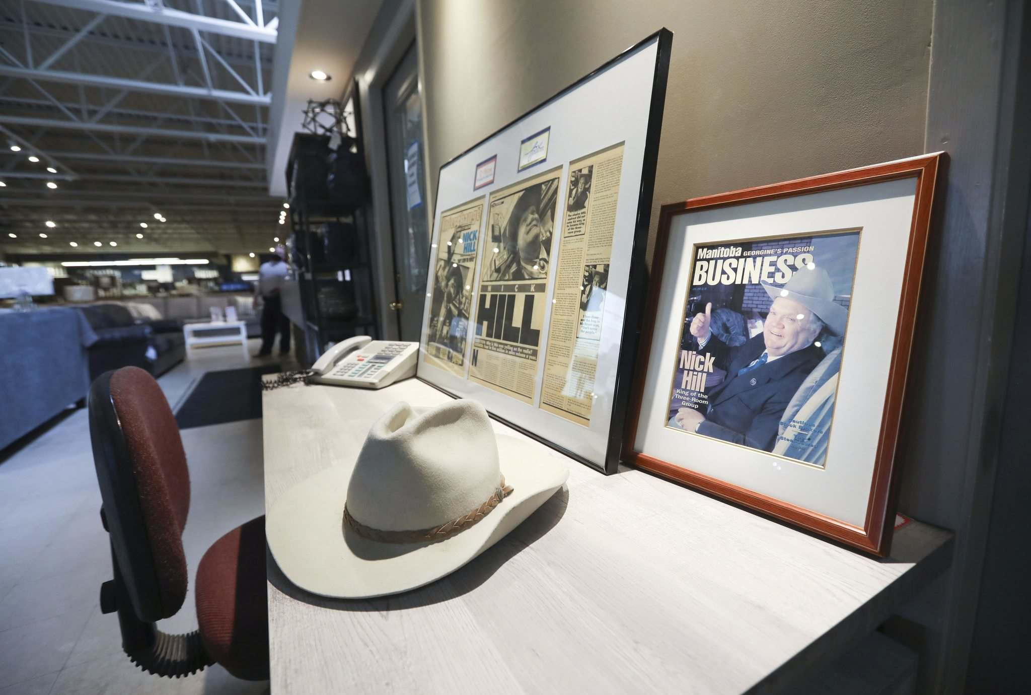 The 'ol cowpoke,' as he called himself in his broadcast ads, would have had little patience for the pandemic, his children say. (Ruth Bonneville / Winnipeg Free Press)</p>
