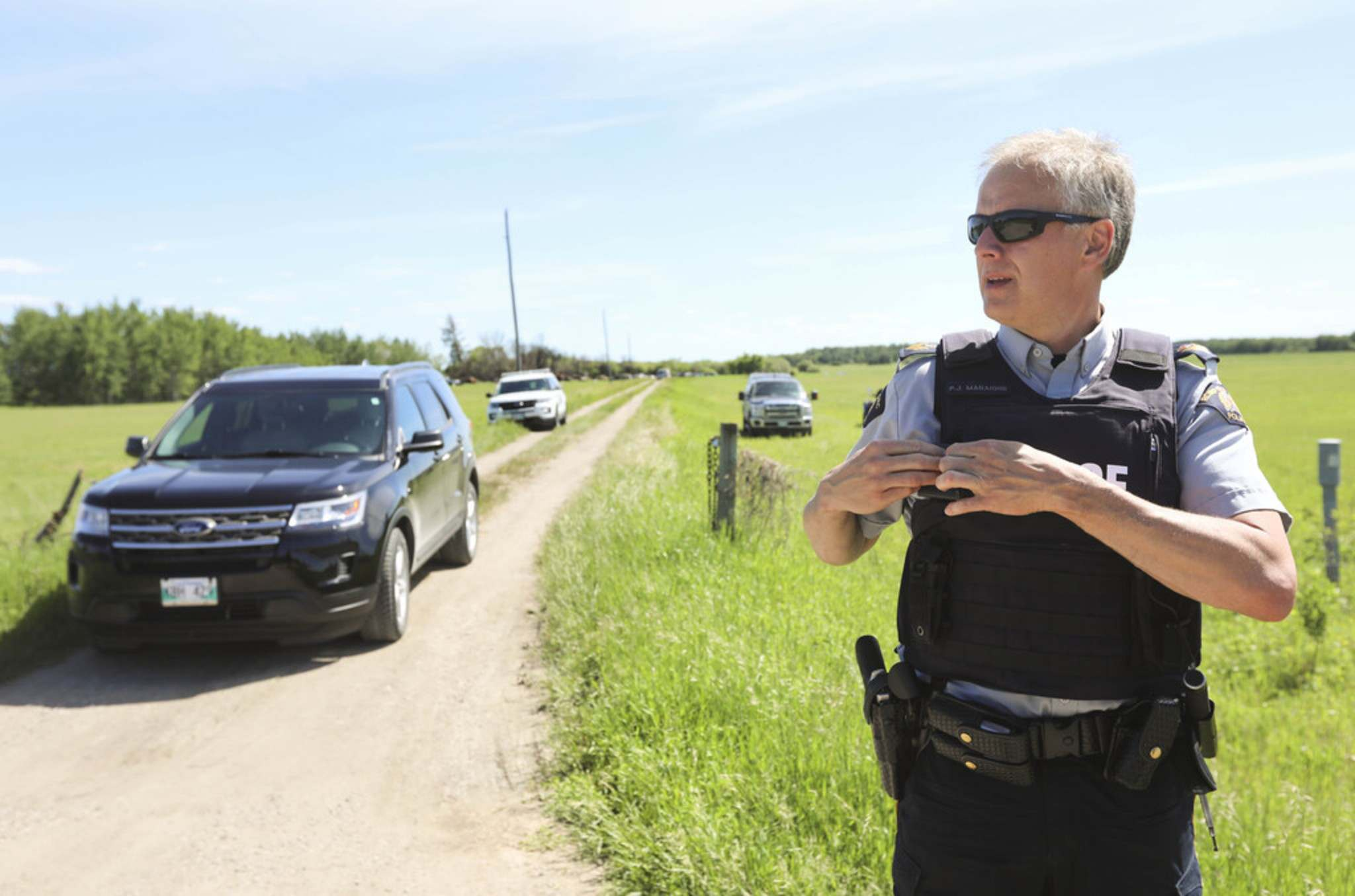 RUTH BONNEVILLE / WINNIPEG FREE PRESS</p><p>RCMP Sgt. Paul Manaigne at Eric Paul Wildman's property near the RM of St. Clements as investigators look for evidence of his connection with a possible hiomicide of Clifford Joseph who was his neighbour.</p>