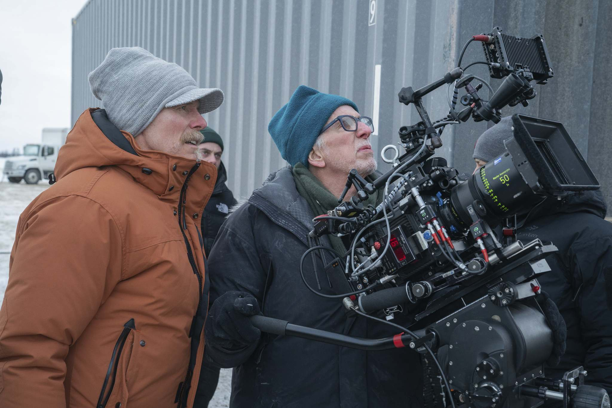 VVS Films</p><p>The Ice Road writer-director Jonathan Hensleigh (left) opted to shoot Winnipeg as Winnipeg, rather than a stand-in for some other city.</p>