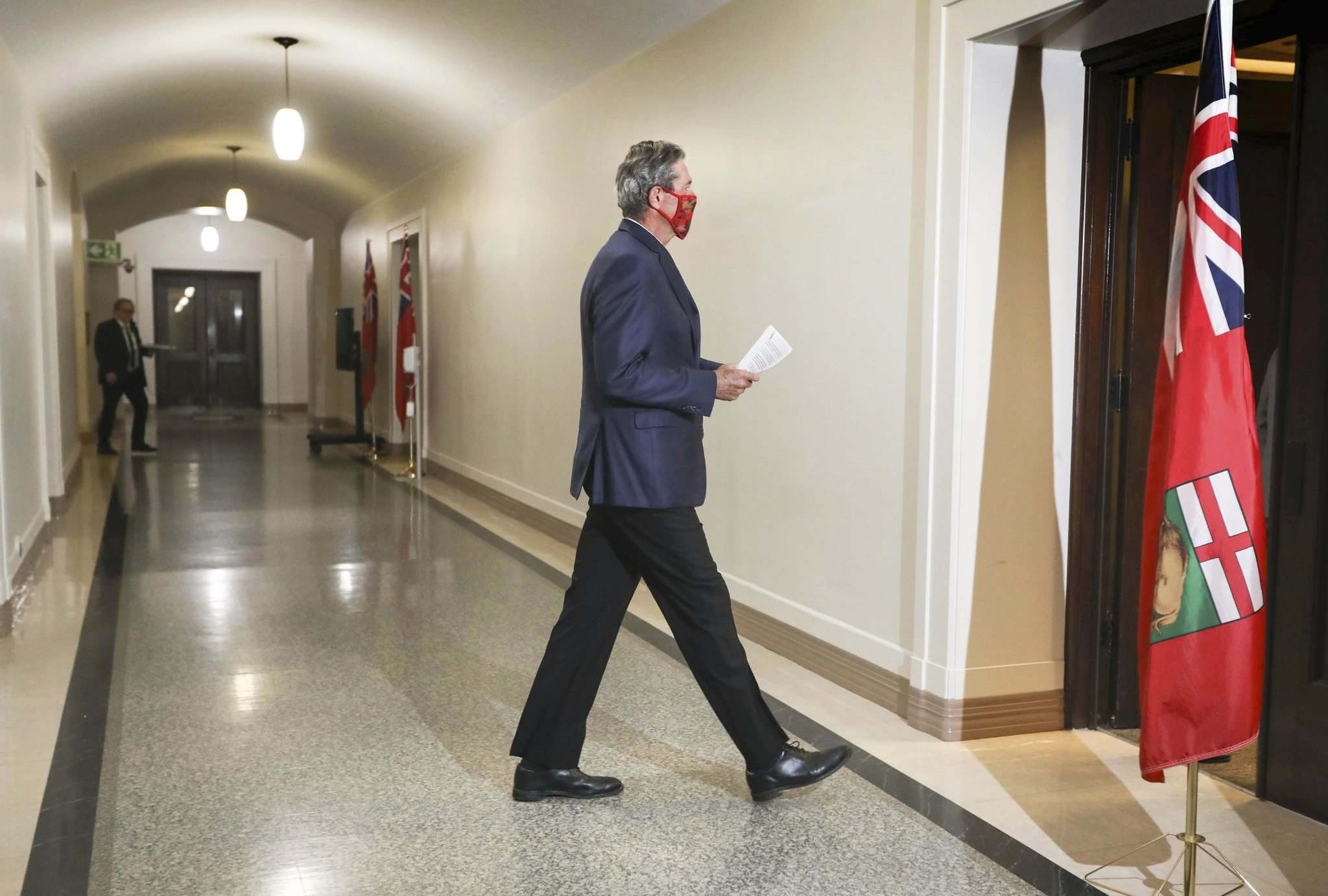On Wednesday, Premier Brian Pallister announced he was lifting some restrictions — a week earlier than originally planned. (Ruth Bonneville / Winnipeg Free Press)</p>