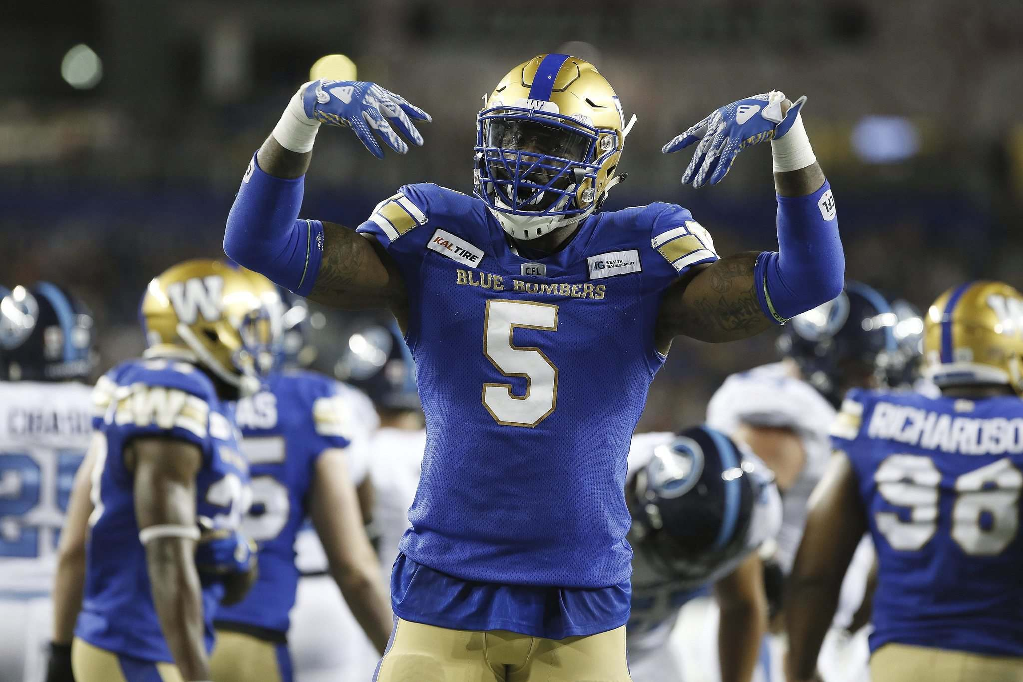 John Woods / The Canadian Press files</p><p>Willie Jefferson is among the key players from 2019's Grey Cup championship team who will form the core of the Bomber's defense this season.</p>