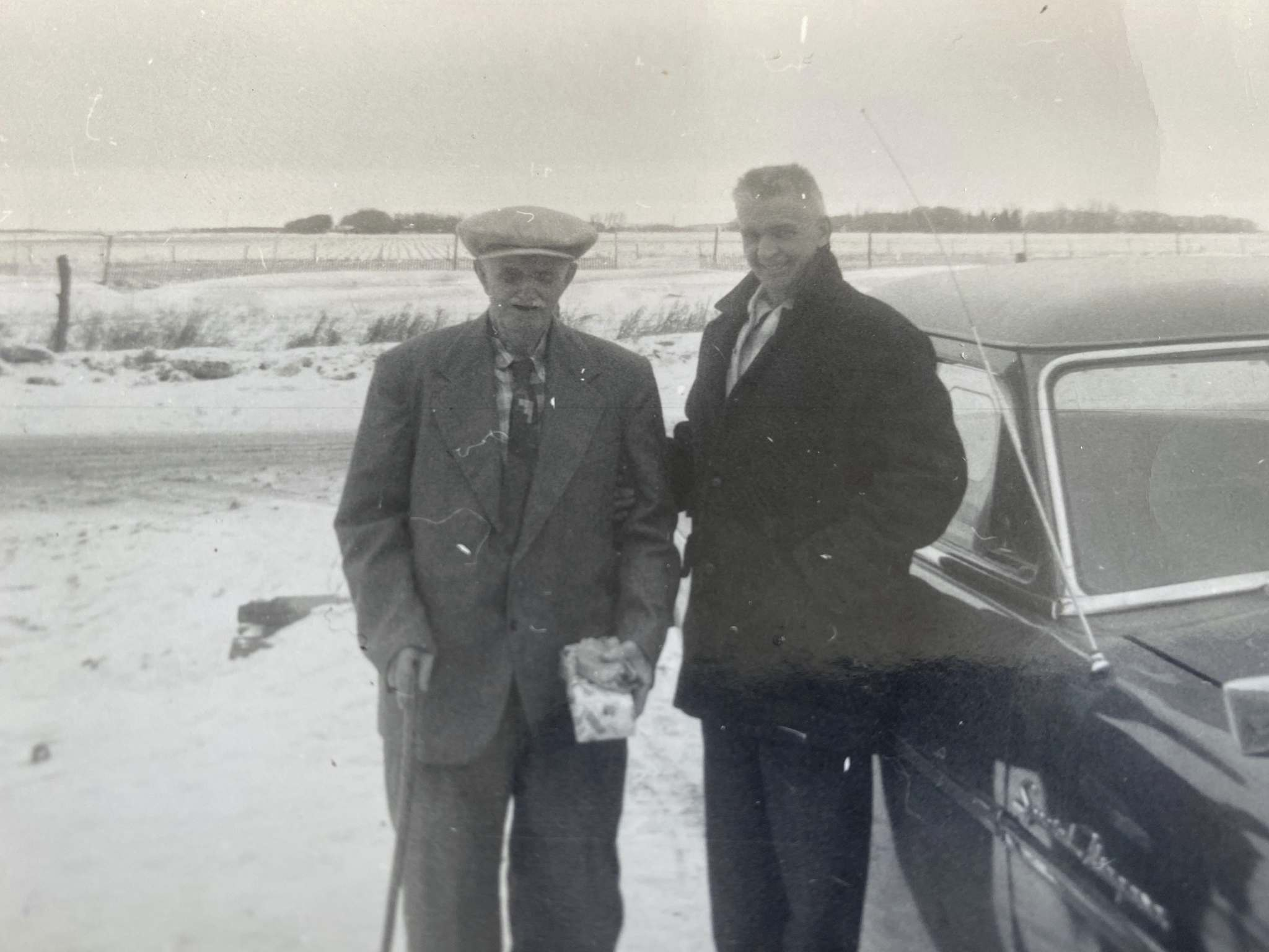 Fred Archer, with son Sydney, originally planted two trees to honour his wife and child who died.</p>