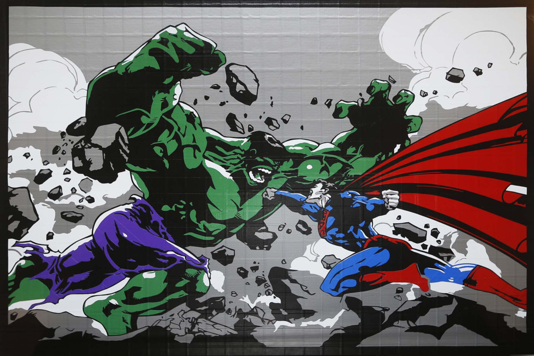 It took more than 20 hours to complete Superman duking it out with the Hulk.