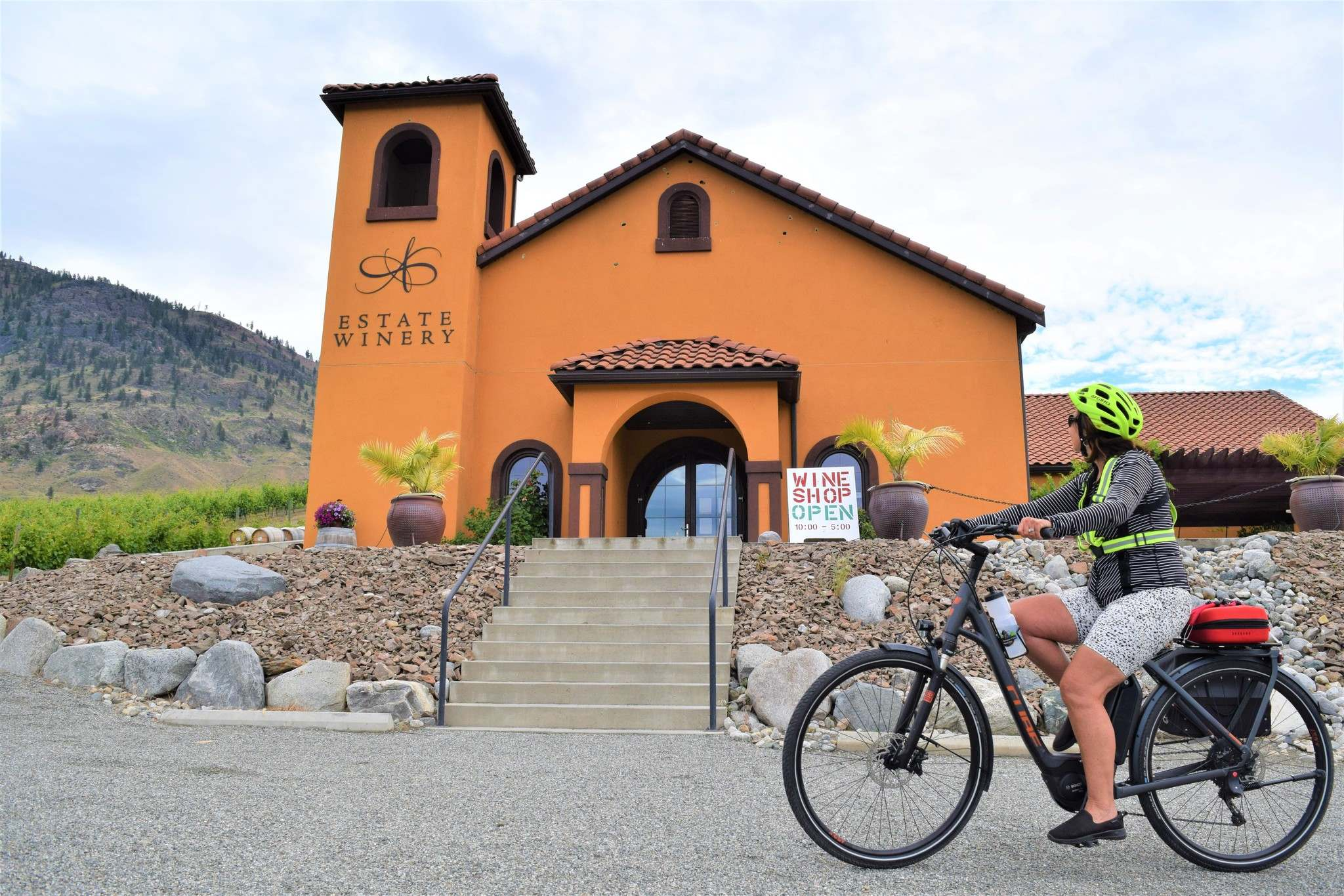 Pulling up in front of Adega Estate Winery in Osoyoos.</p></p>