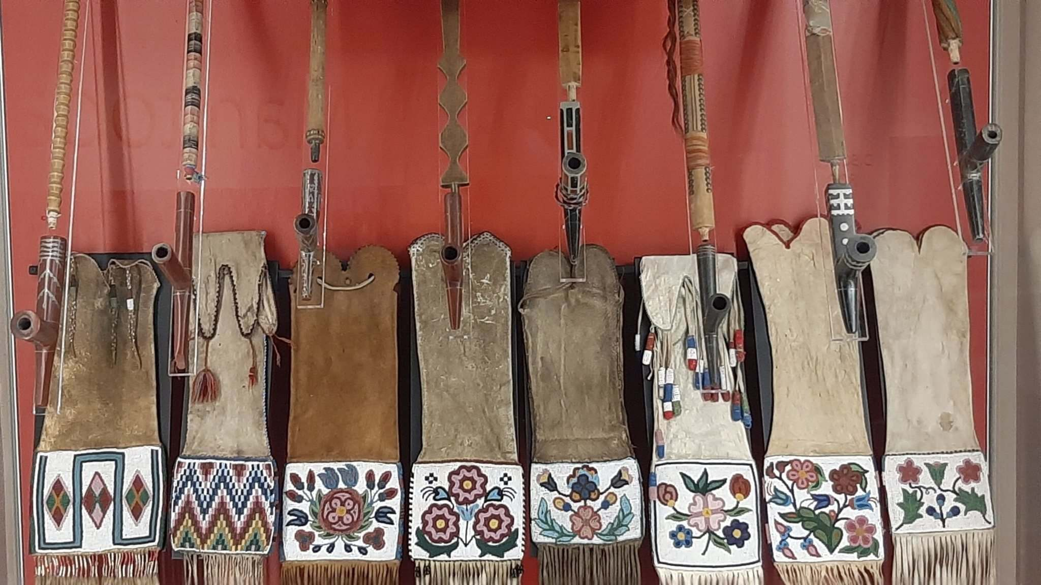 SUPPLIED</p><p>Sacred pipes on display at the Manitoba Museum</p>