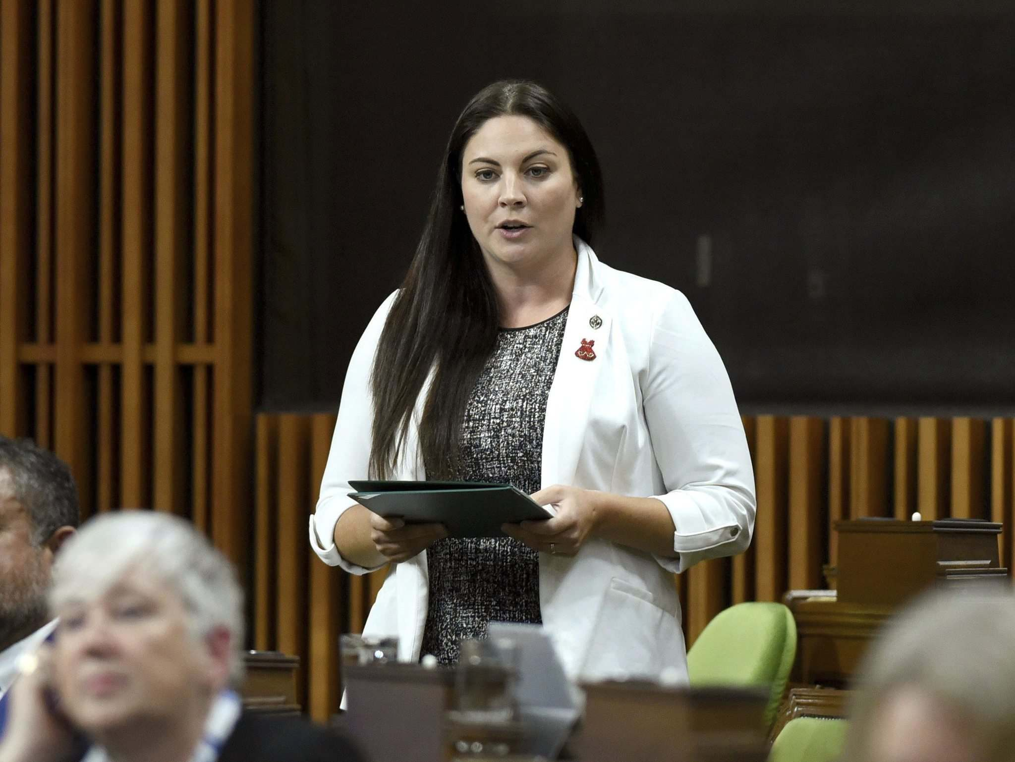 Jenica Atwin, MP for Fredericton, announced she was leaving the Green Party and joining the Liberals. (Justin Tang / The Canadian Press files)
