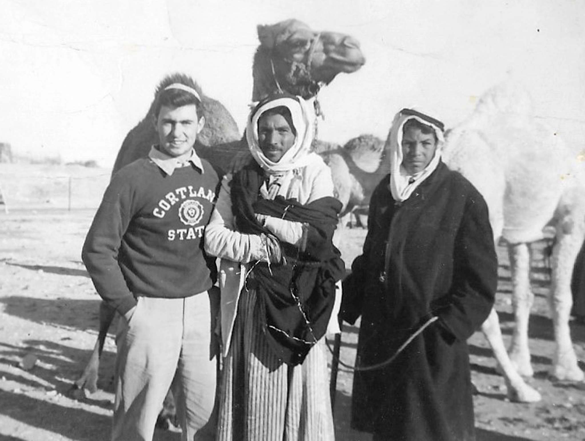 In this 1958 family photo, Steinberg (left) is seen in Israel, where he attended Hebrew University on a scholarship.</p>
