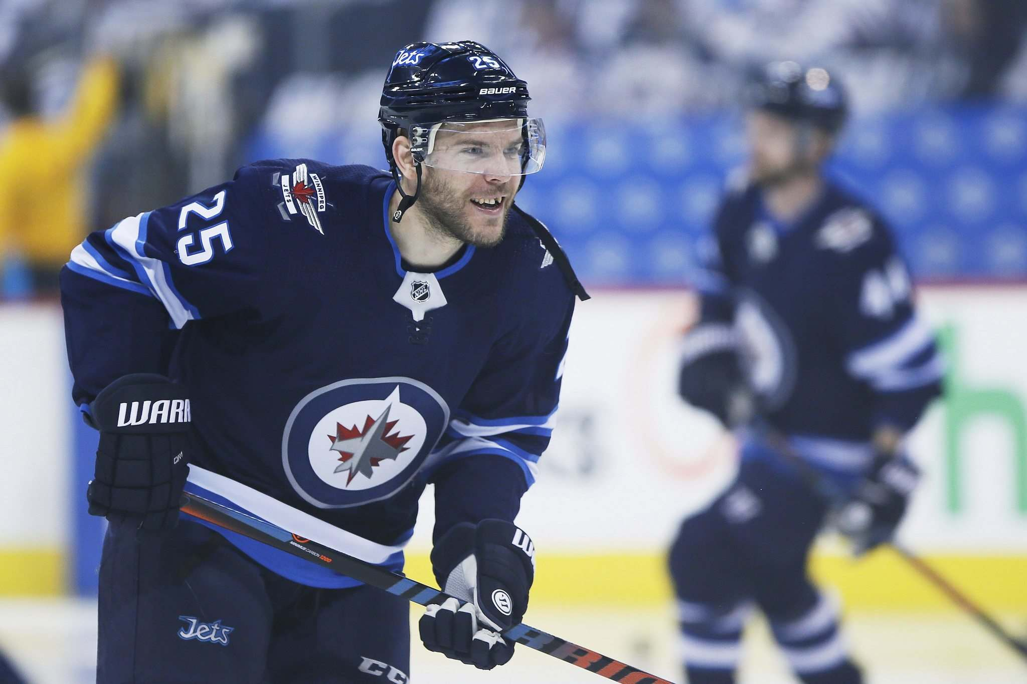 Paul Stastny joined the Jets for the club's 2018 playoff run, skated for Vegas for two seasons and rejoined the Jets last season. (John Woods / Winnipeg Free Press files)</p>