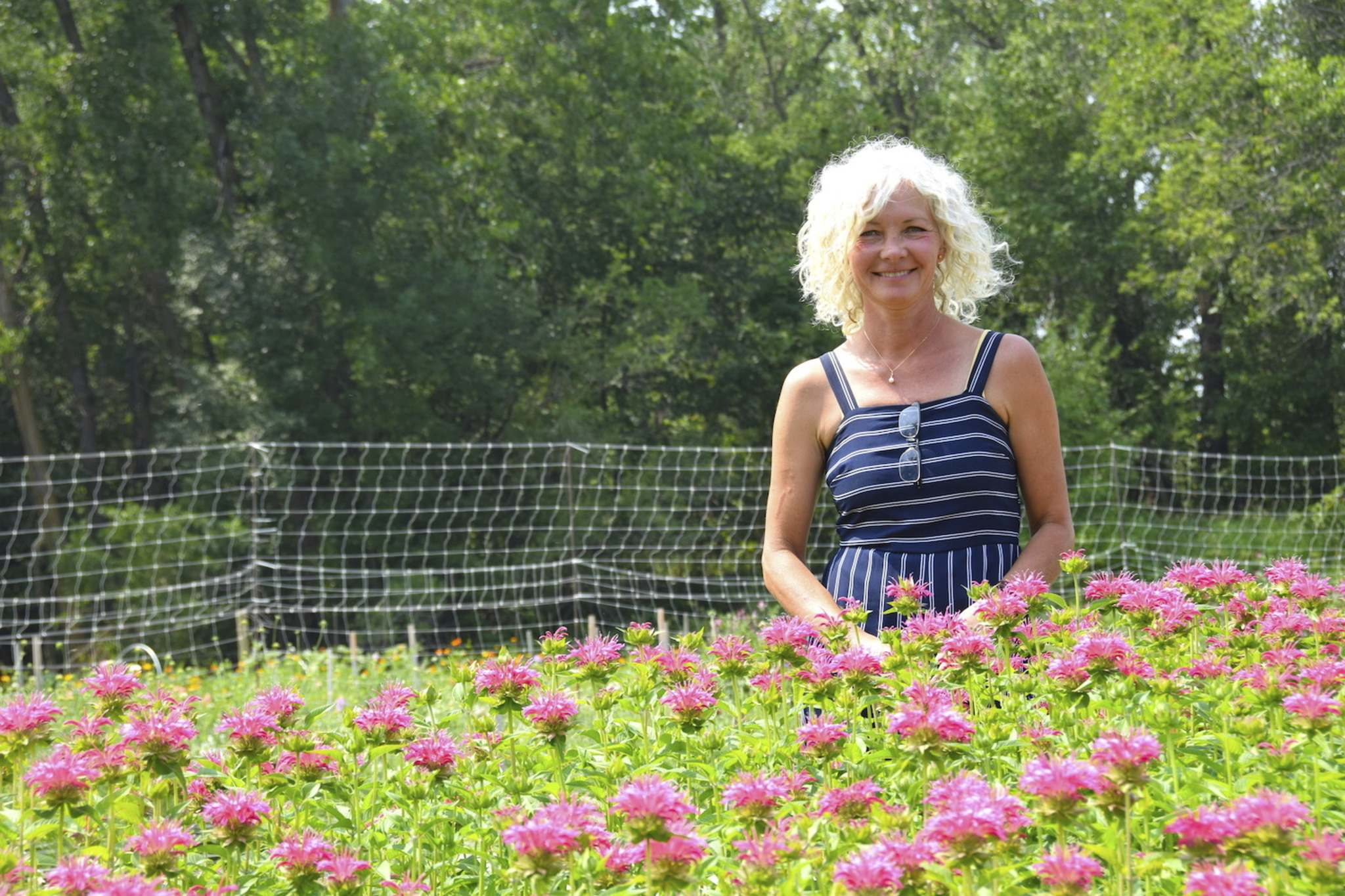 The gardens can be a place of quiet contemplation, says Miss Millie's Flower Farm owner Jodi Friesen. Plus you get to go home with an armful of blooms.</p>